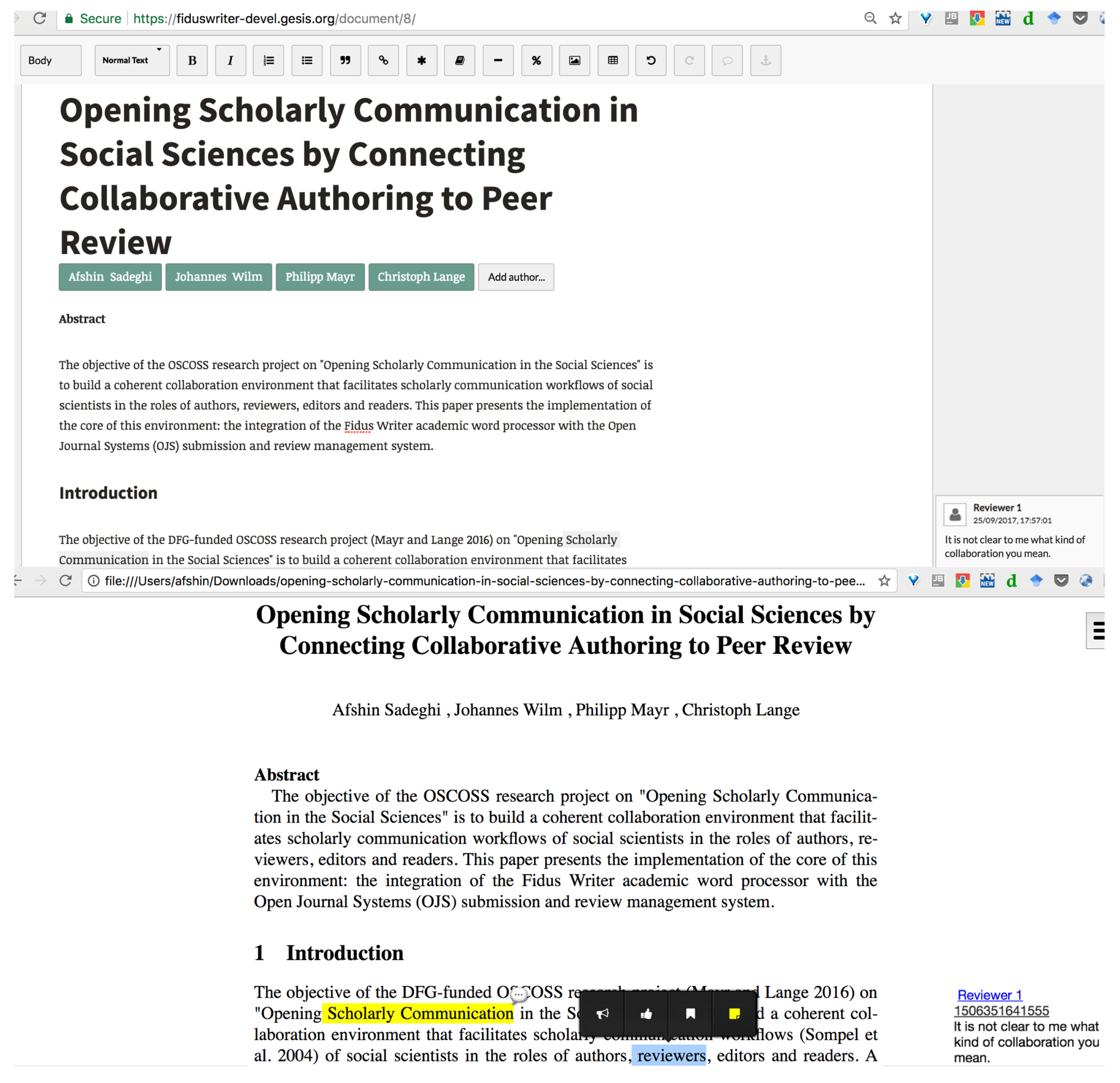 Publications | Free Full-Text | Opening and Reusing Transparent Peer