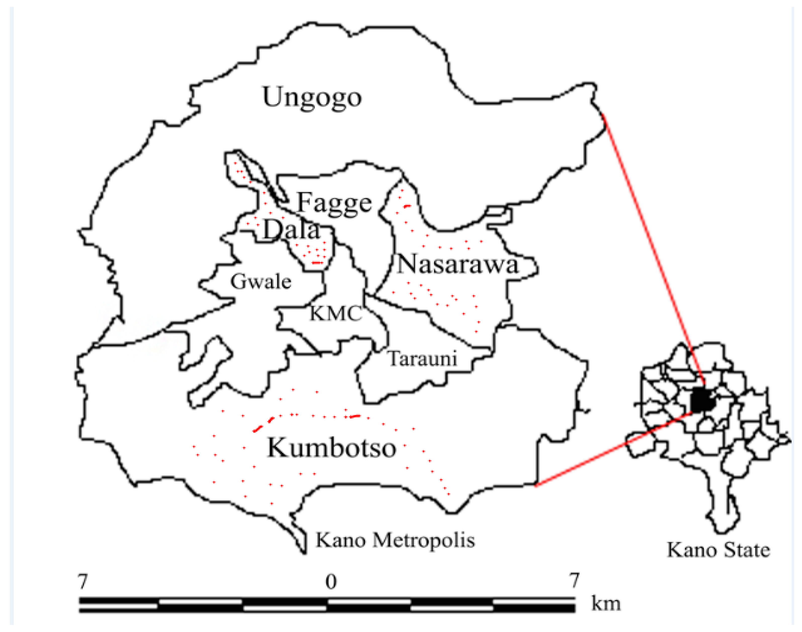map of kano nigeria
