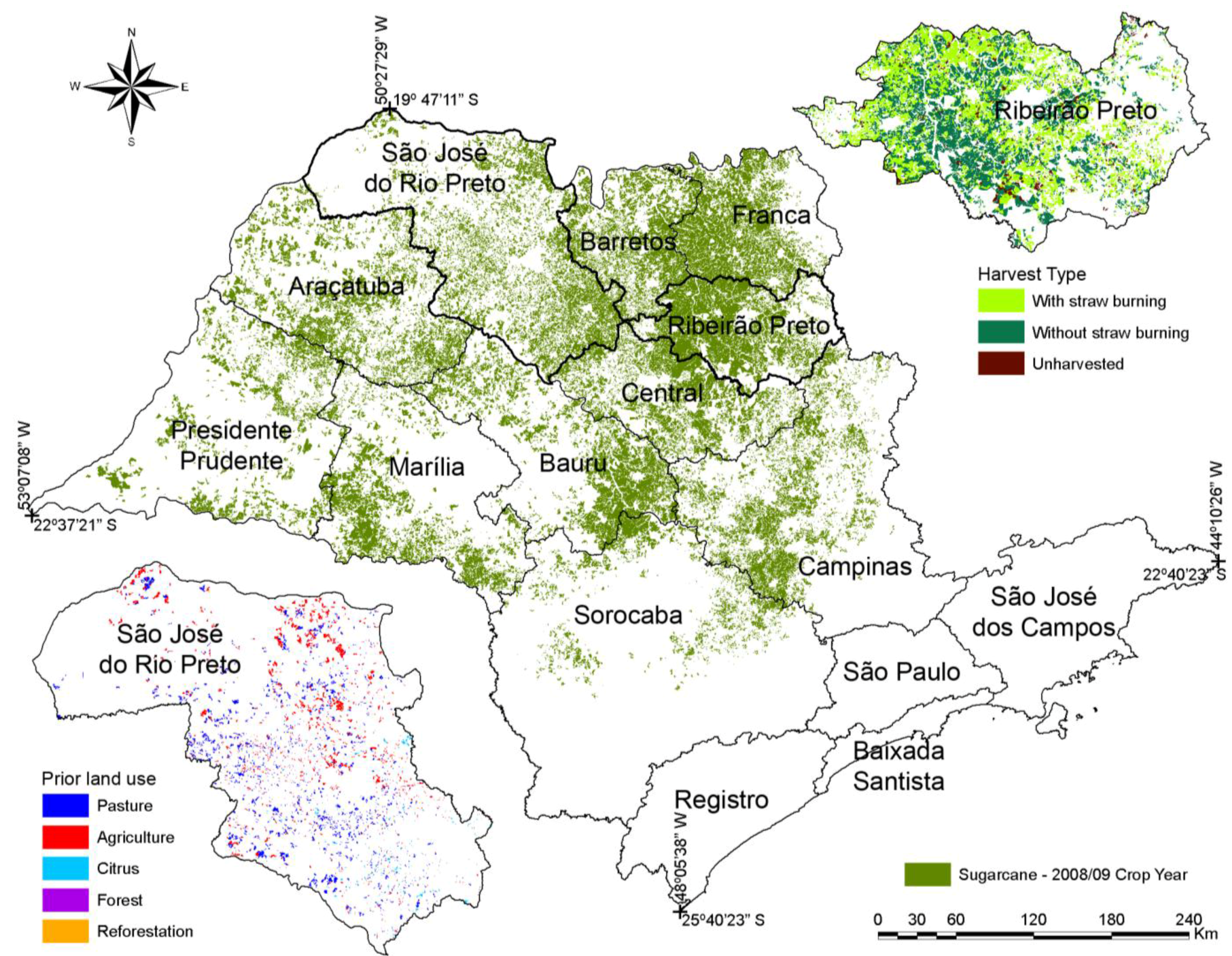 Sao Paulo State Map.Remote Sensing Free Full Text Studies On The Rapid Expansion Of