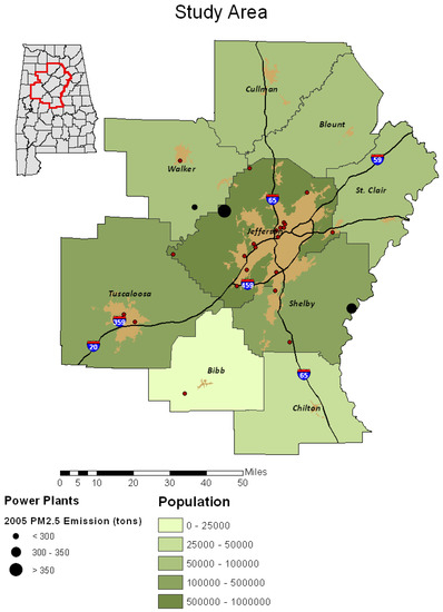 Exploring Land Use and Land Cover Effects on Air Quality in Central Alabama Using GIS and Remote Sensing