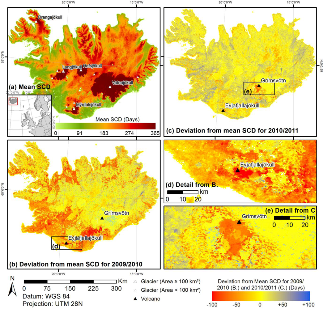 Remote Sensing Free FullText European Snow Cover - Snow cover map usa