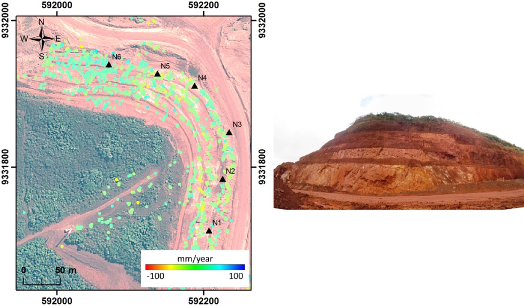Remote Sensing Free Full Text Detection And Monitoring Of Surface Motions In Active Open Pit