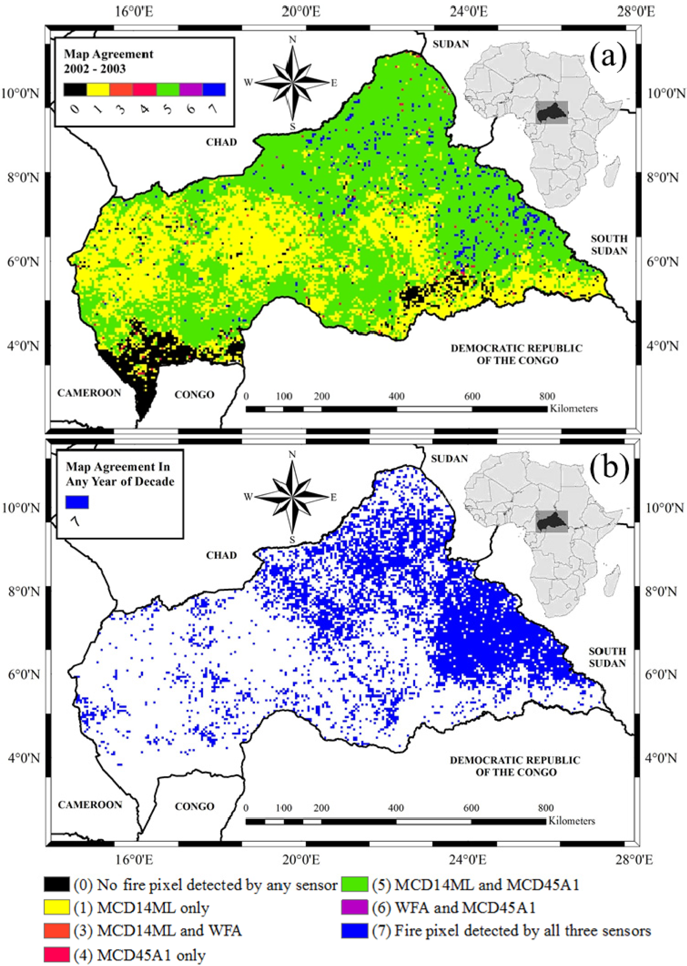 Remote Sensing Free FullText A Decade Long MultiScale Map