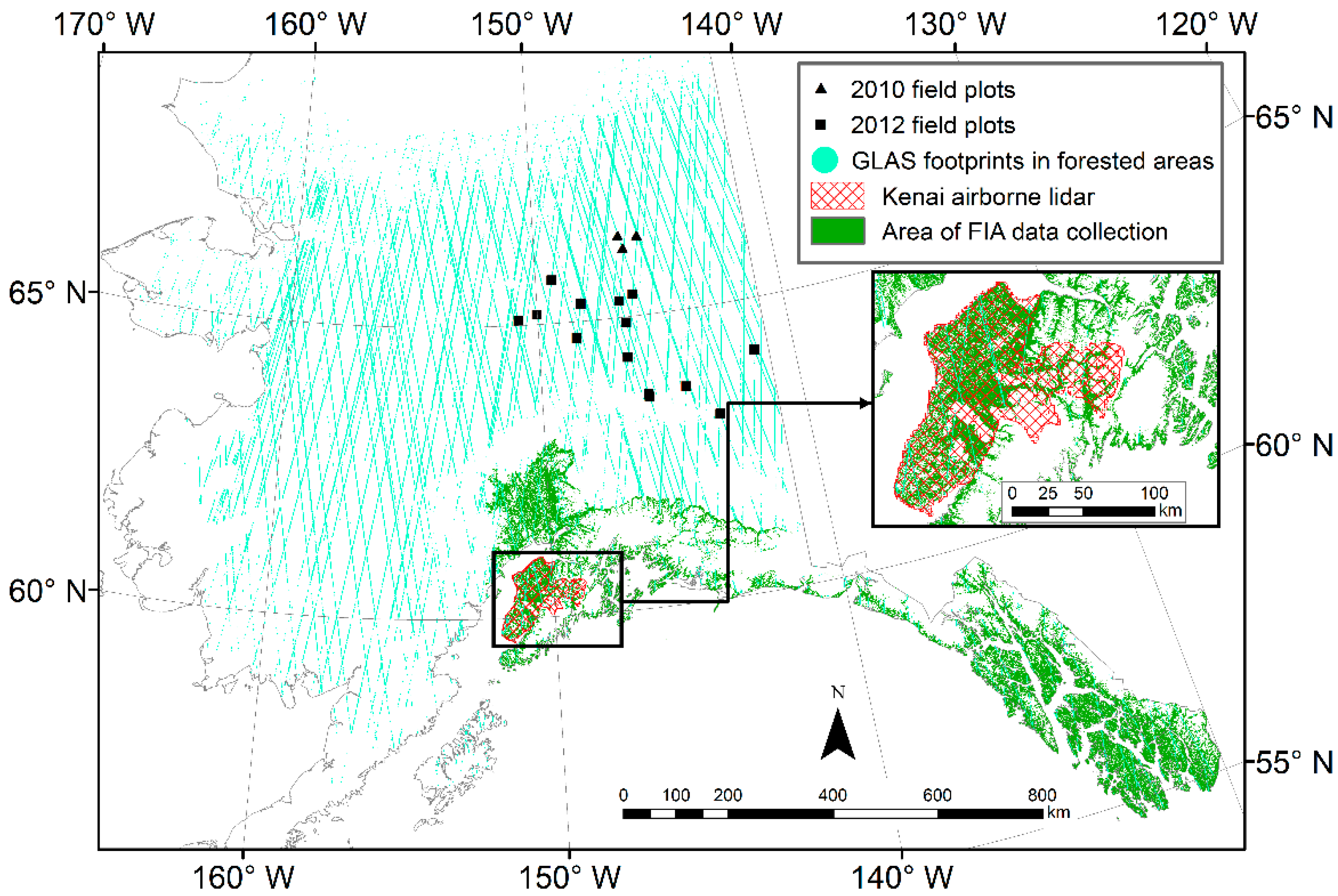 Remote Sensing Free Full Text Mapping Forest Height In Alaska  -> Tok Ak Street Map