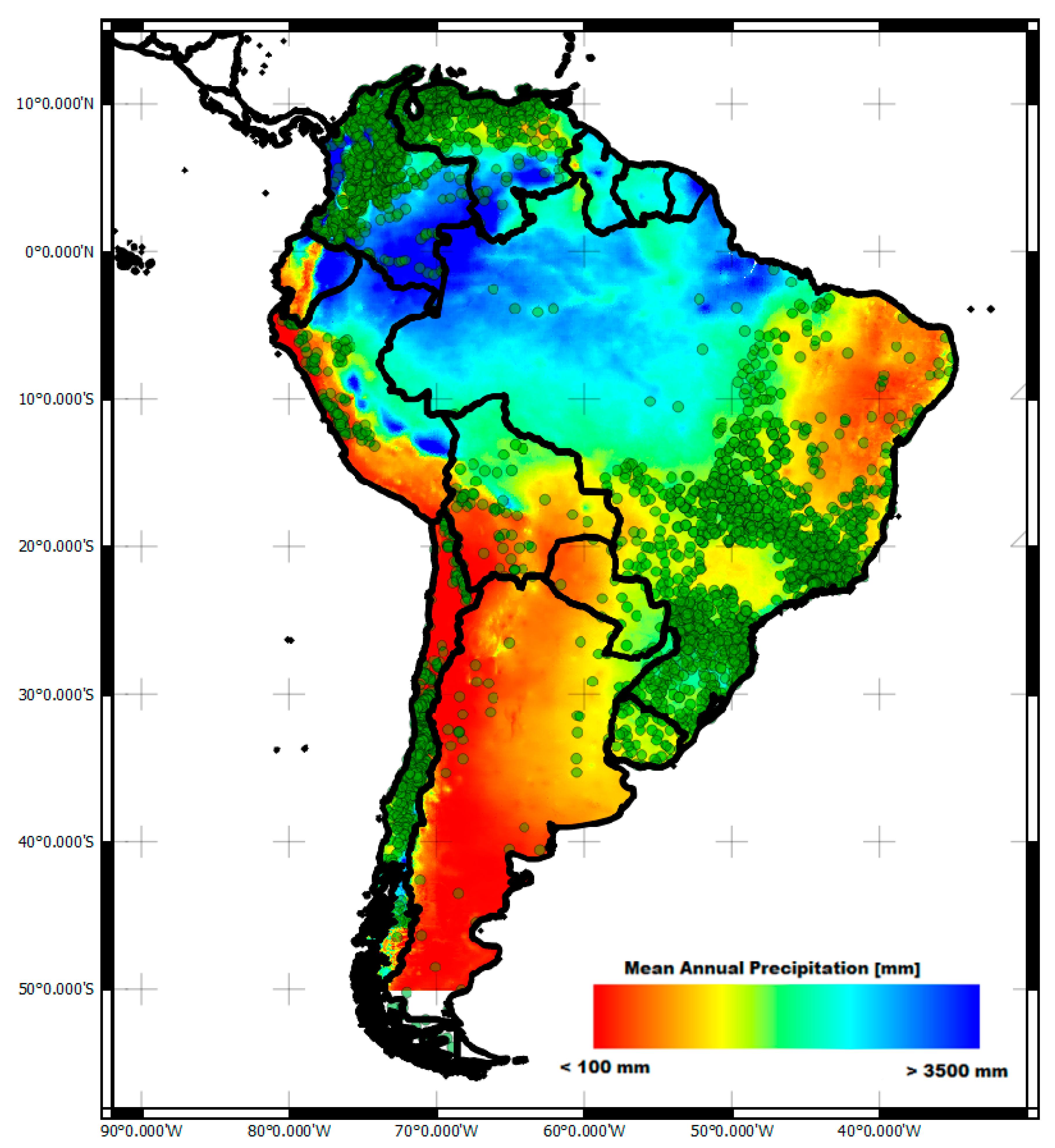Remote Sensing Free FullText HighResolution Precipitation - Argentina rainfall map