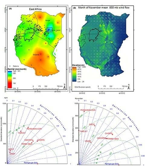 An Assessment of Satellite-Derived Rainfall Products Relative to Ground Observations over East Africa