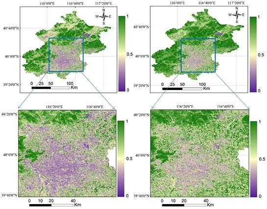 Comparative Assessment of Two Vegetation Fractional Cover Estimating Methods and Their Impacts on Modeling Urban Latent Heat Flux Using Landsat Imagery