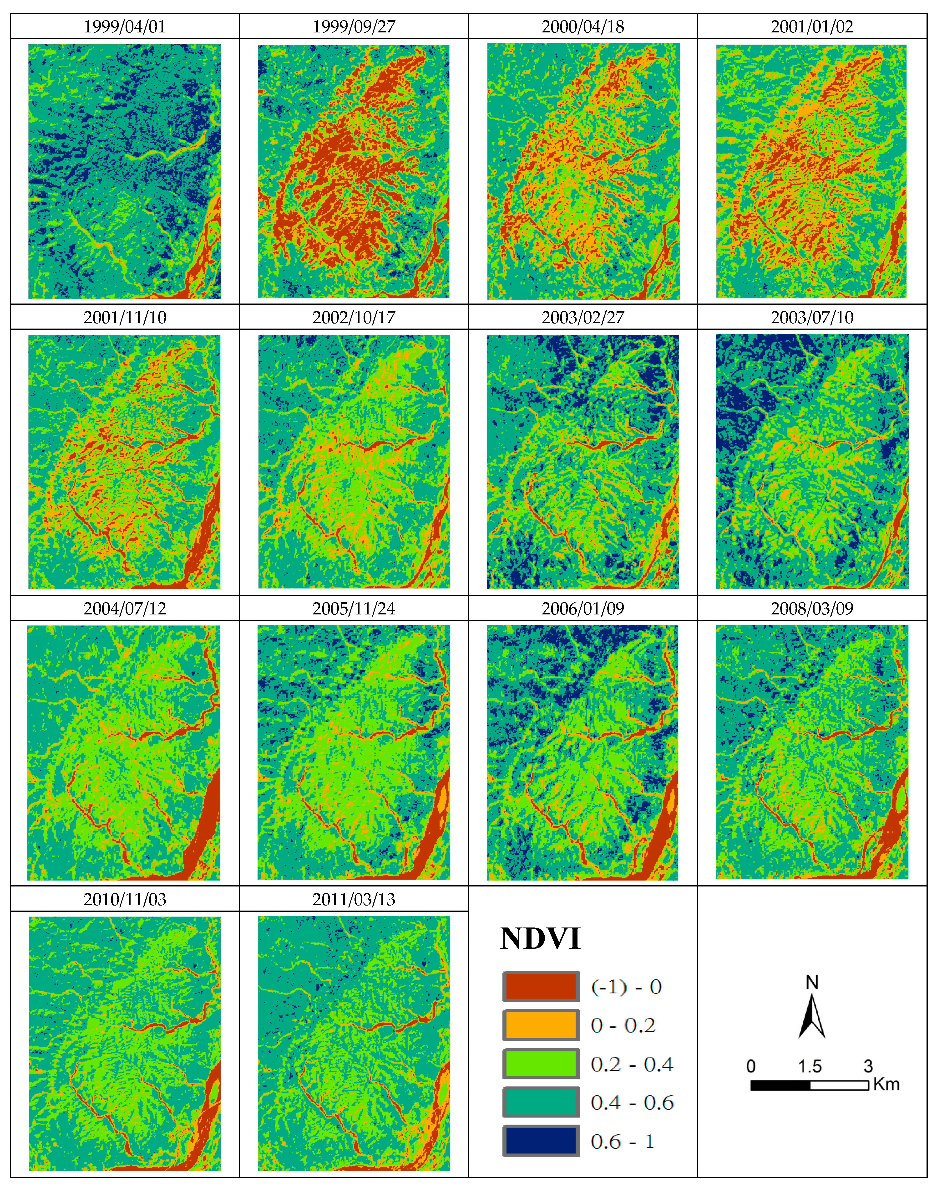 Remote Sensing   Free Full-Text   A Long-Term Vegetation Recovery ...