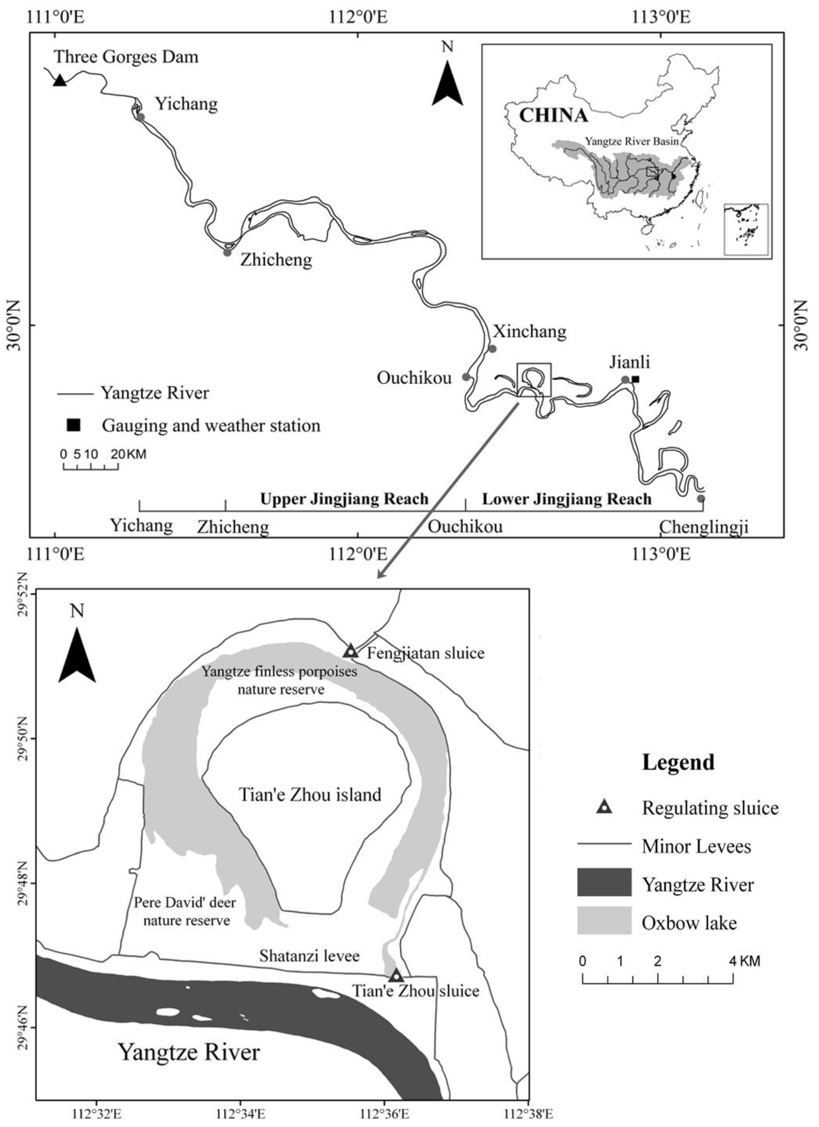 Utilization of remote sensing for river