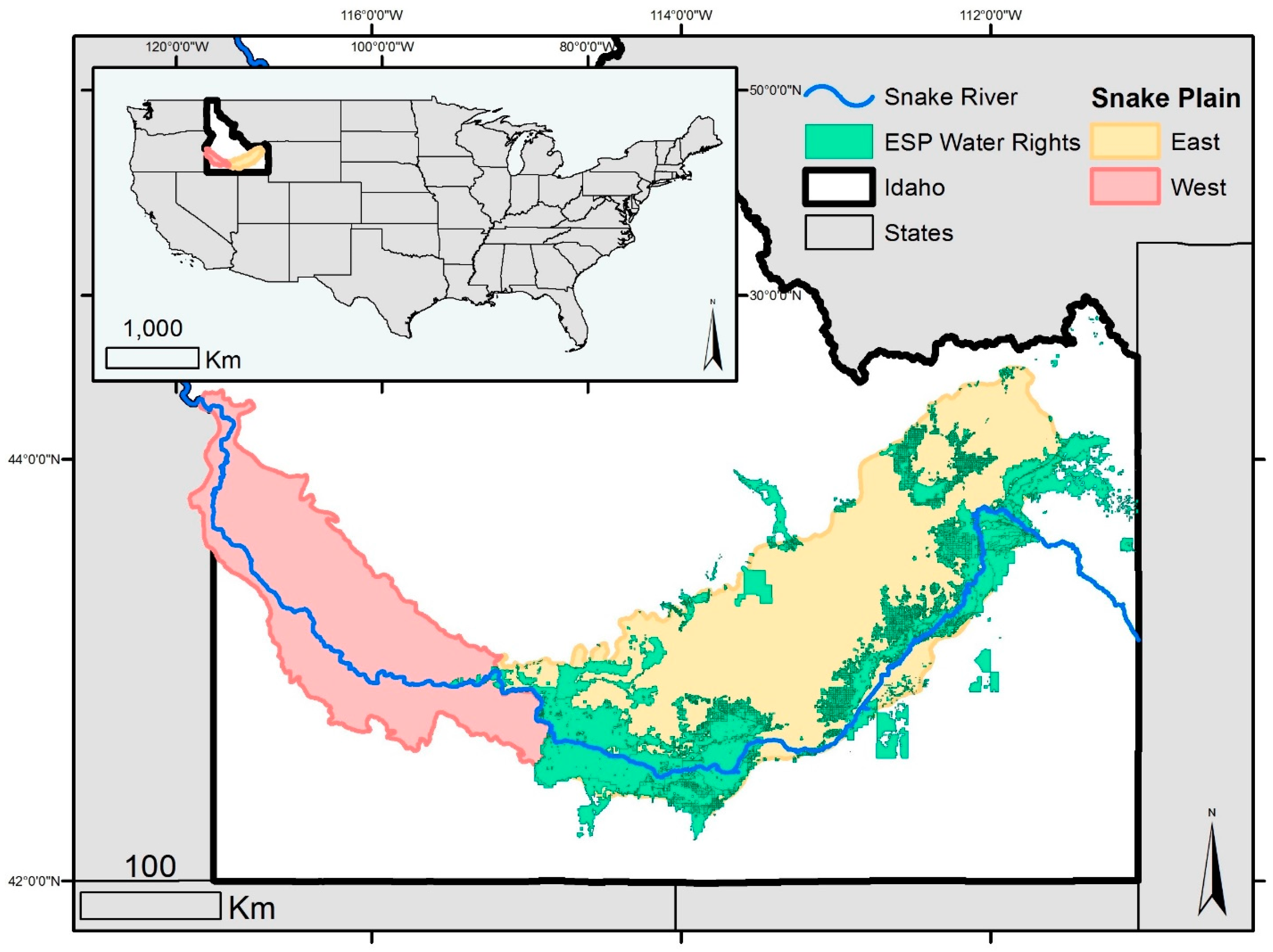 Remote Sensing Free FullText Trend Detection For The Extent - Snake river world map