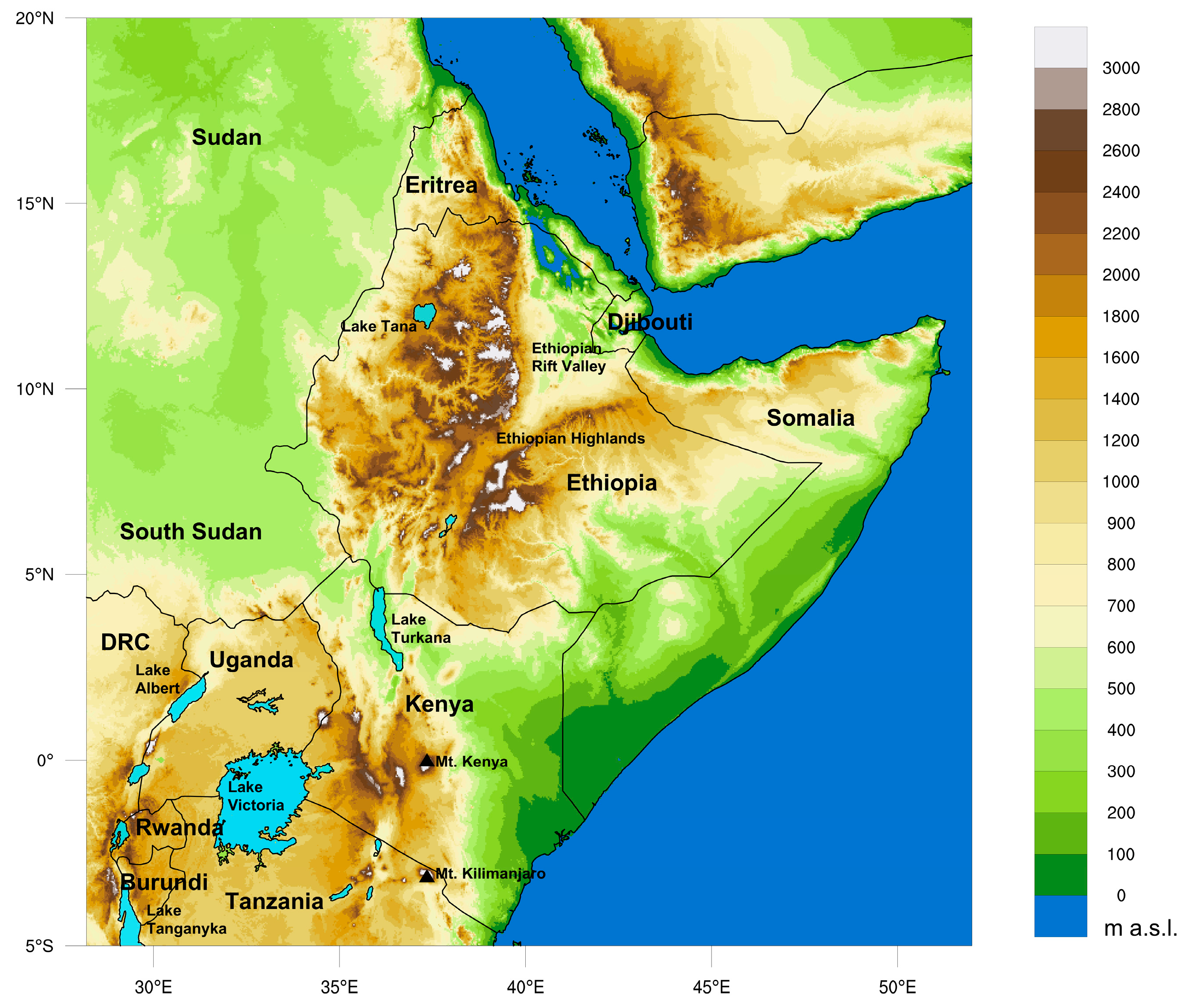 Map Of Africa 1800.Remote Sensing Free Full Text East Africa Rainfall Trends And