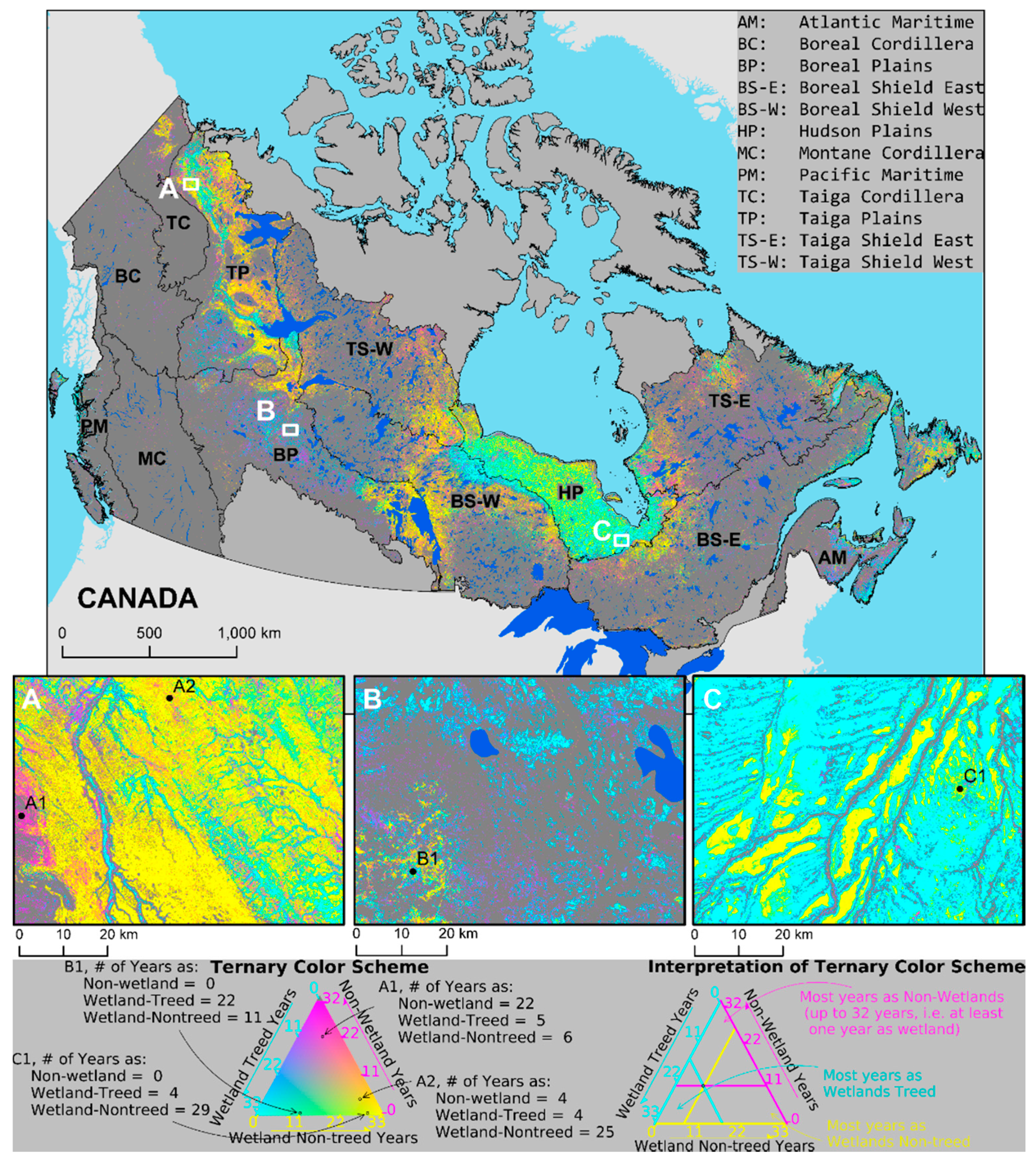 Map Of Canada Ecozones.Remote Sensing Free Full Text A National Assessment Of Wetland