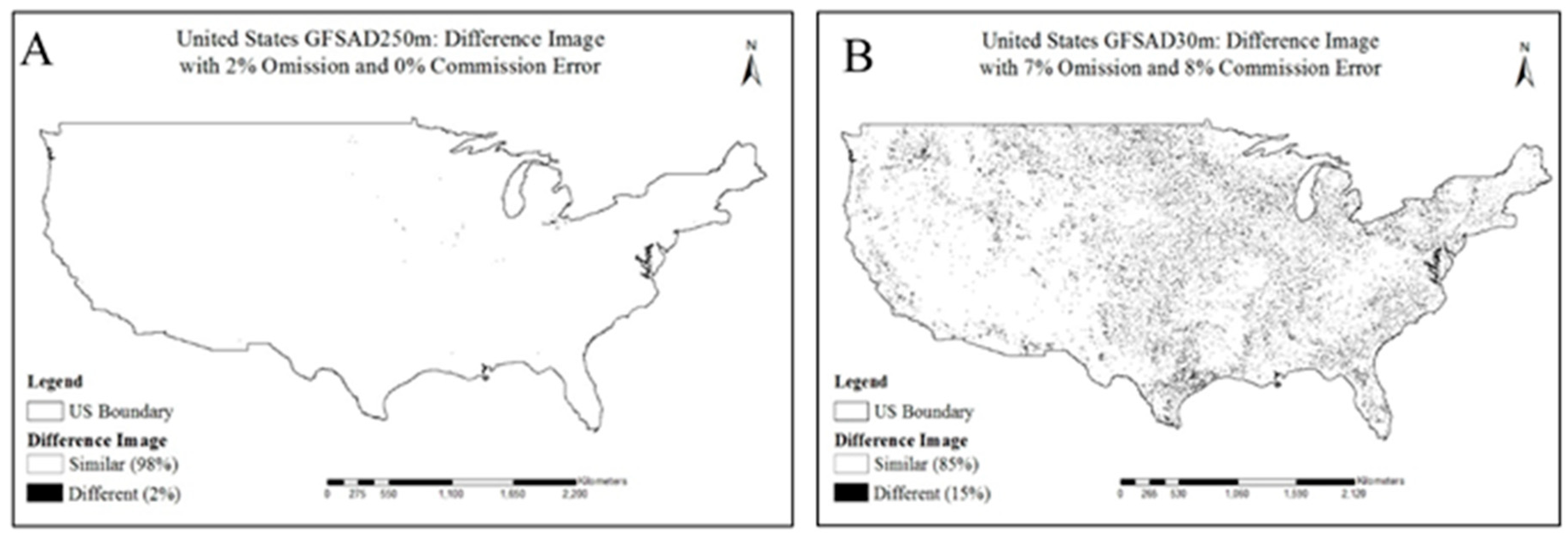 Remote Sensing Free Full Text Accuracy Assessment Of Global Food - Us-map-legend