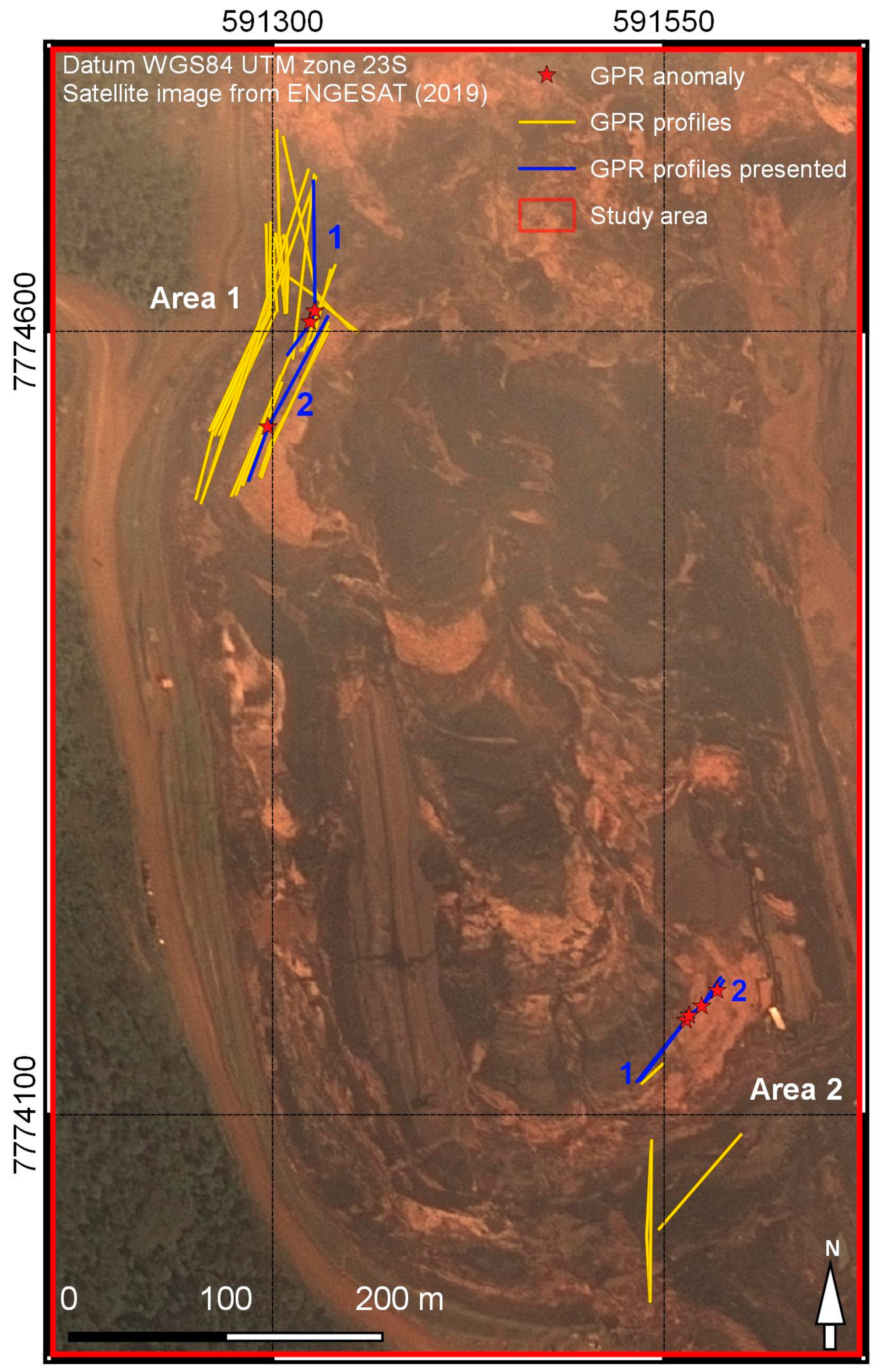 Remote Sensing | Free Full-Text | GPR Survey on an Iron Mining Area