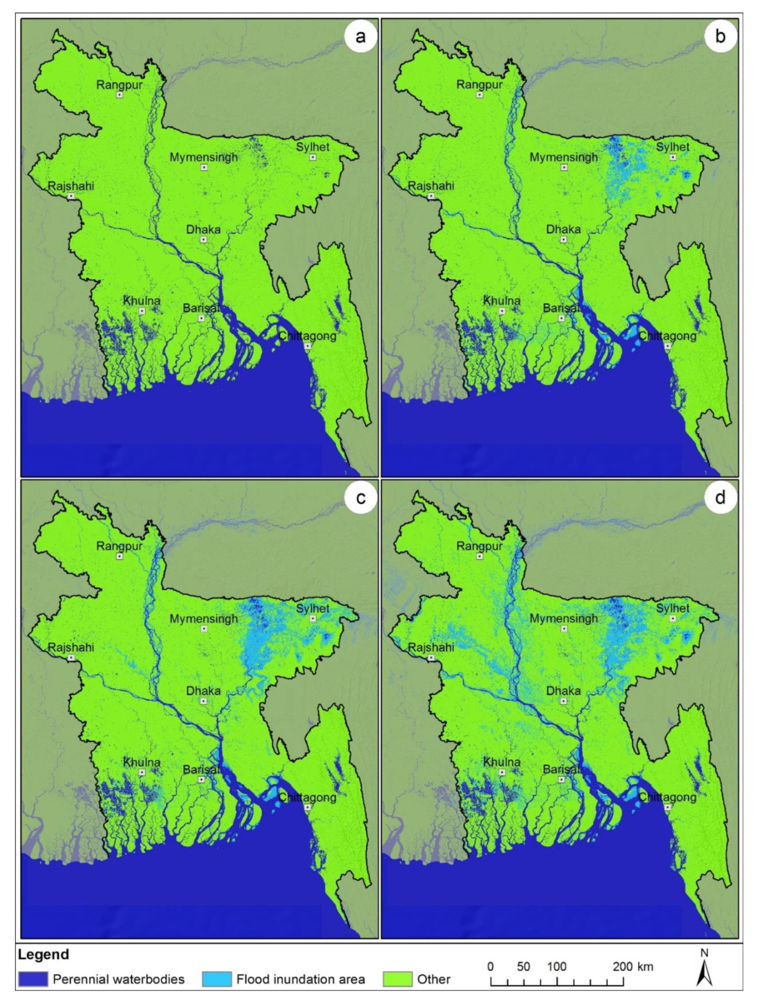 Remote Sensing   Free Full-Text   Operational Flood Mapping Using  Multi-Temporal Sentinel-1 SAR Images: A Case Study From Bangladesh   HTML