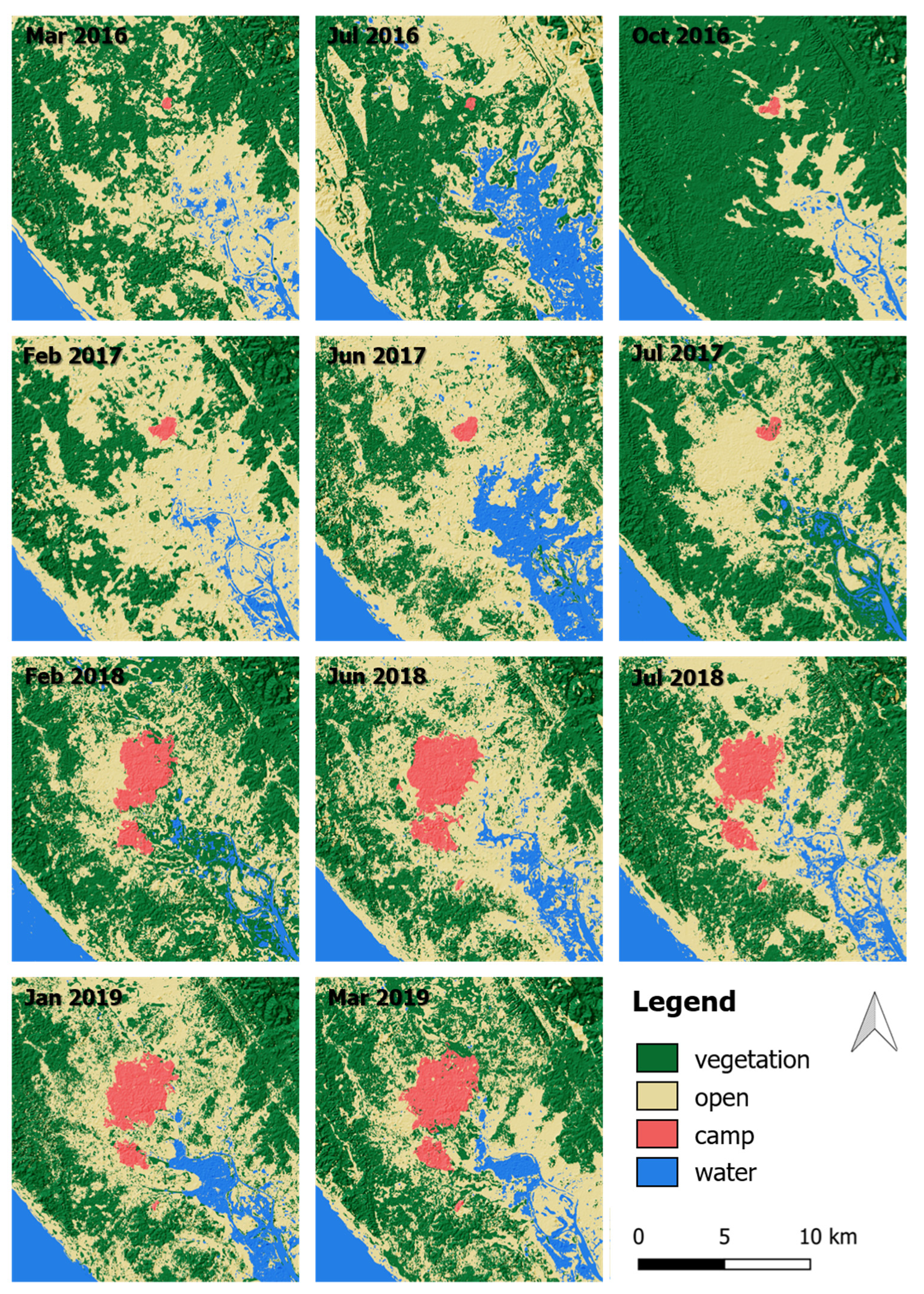 Remote Sensing Free Full Text Refugee Camp Monitoring And Environmental Change Assessment Of Kutupalong Bangladesh Based On Radar Imagery Of Sentinel 1 And Alos 2 Html