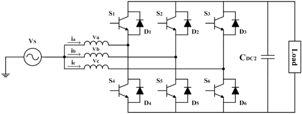 resources full text modeling and analysis of a low resources 04 00713 g002 1024 figure 2 circuit diagram of a three phase ac dc converter