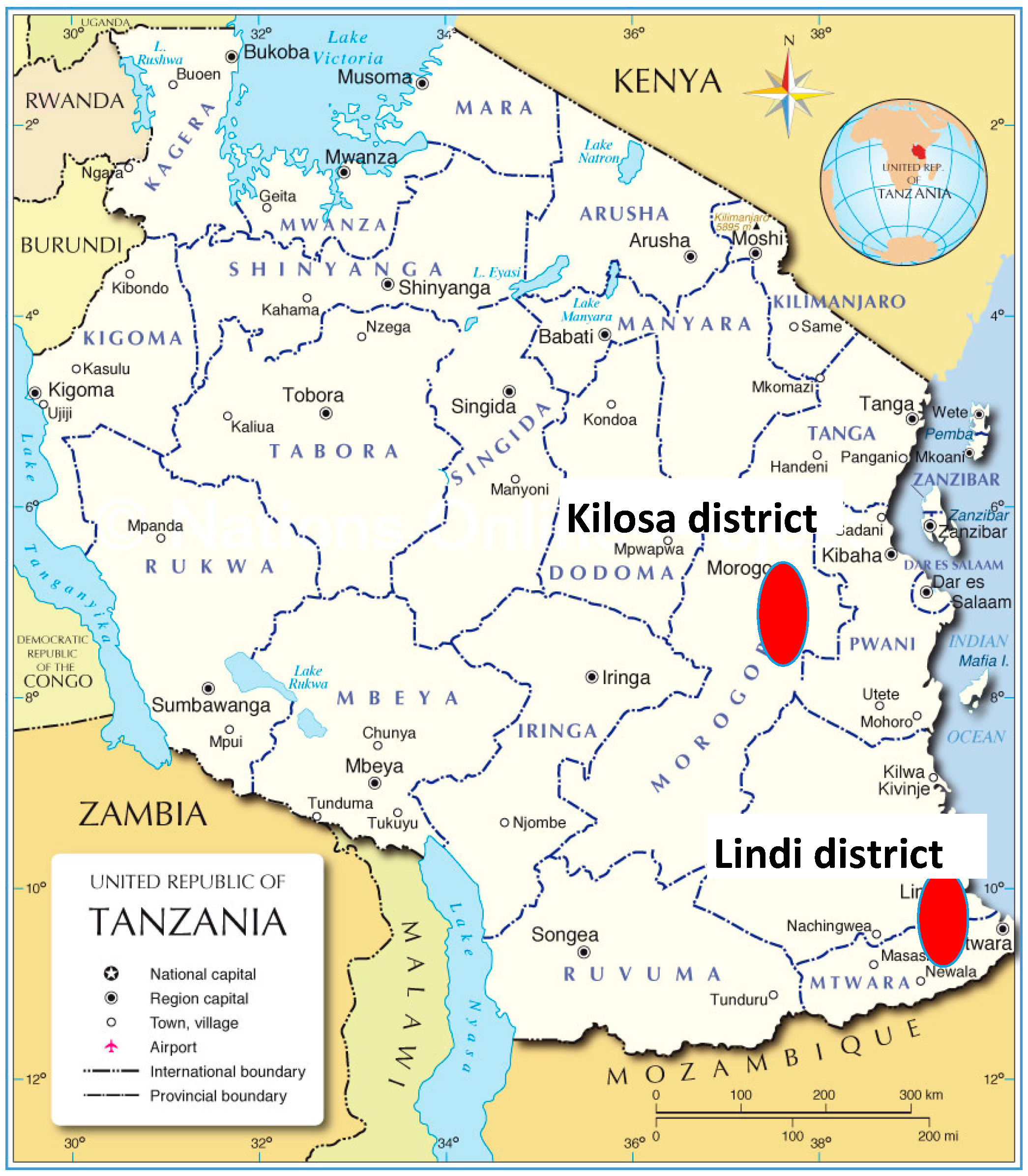Resources Free FullText Allocating GroupLevel Payments For - Where is tanzania located