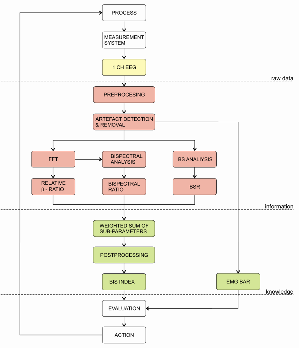 Sensors Free Full Text Monitoring The Depth Of Anaesthesia Html Figure 4 Block Diagram Emg Signal Behaviour From Human Index 10 10896 V2f5 1024 5