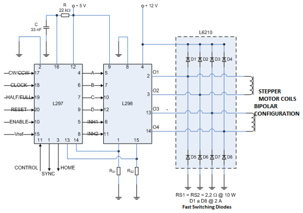Stepper Motor Driver Circuit L298 Images