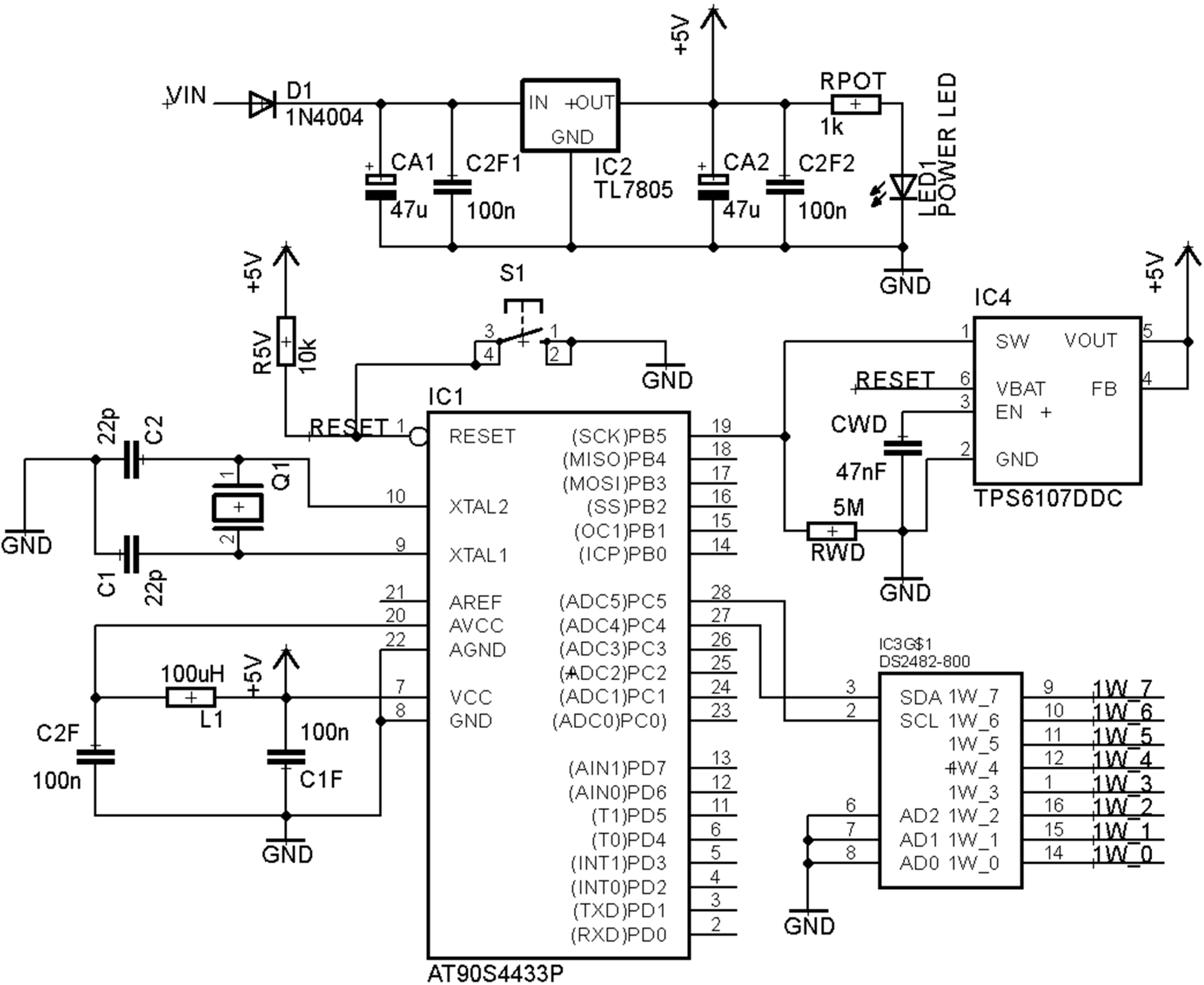 Sensors Free Full Text Design Of A Hybrid Wired Wireless Salt Dogg Controller Wiring Diagram 15 07246 G003 1024 Figure 3 Slave Schematic
