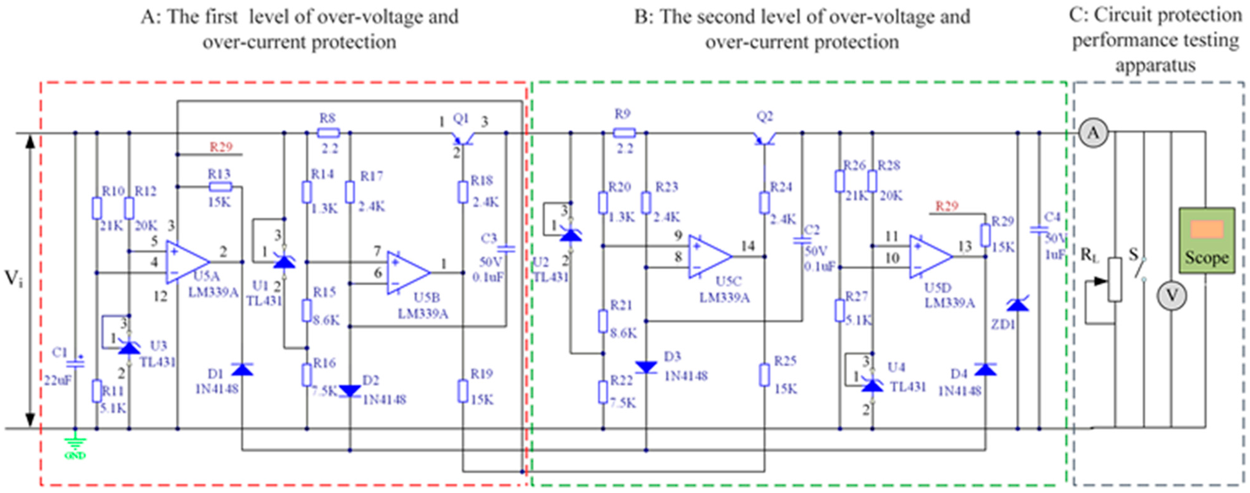 Sensors Free Full Text Design And Implementation Of An Wire Cable Tester Together With Circuit Moreover Diagram No