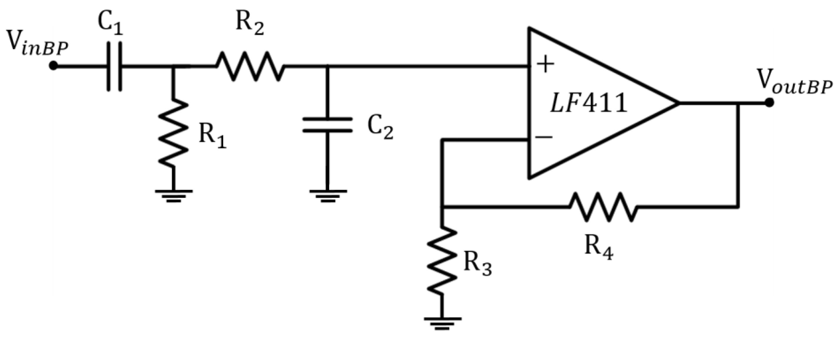 Sensors Free Full Text An Electronic System For The Contactless Diagram Of A Op Amp Notch Filter Using Twin T Configuration And Two 17 02474 G004