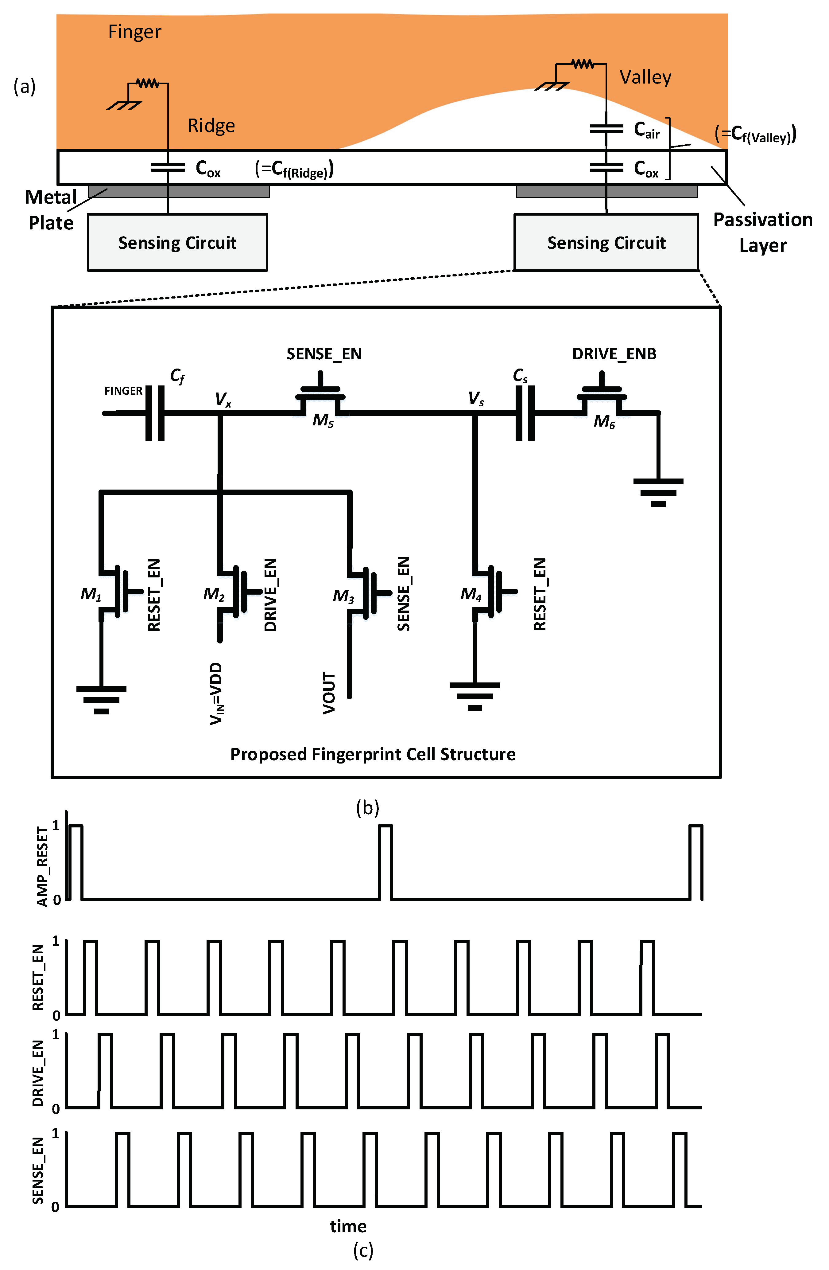 Sensors | Free Full-Text | CMOS Capacitive Fingerprint Sensor Based