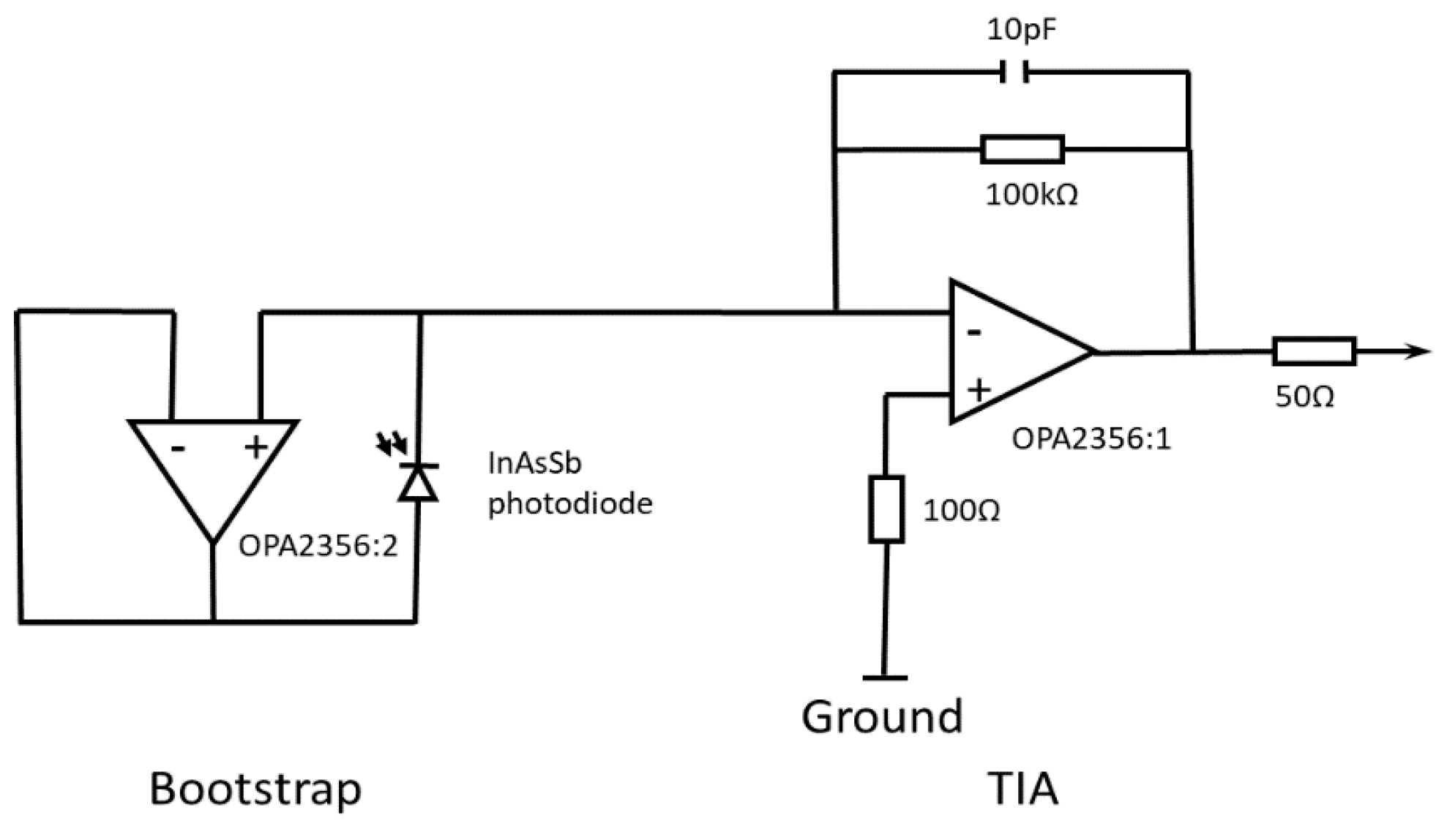 Sensors Free Full Text Miniature Uncooled And Unchopped Fiber This Translates Into The Circuit Schematic 18 03188 G001