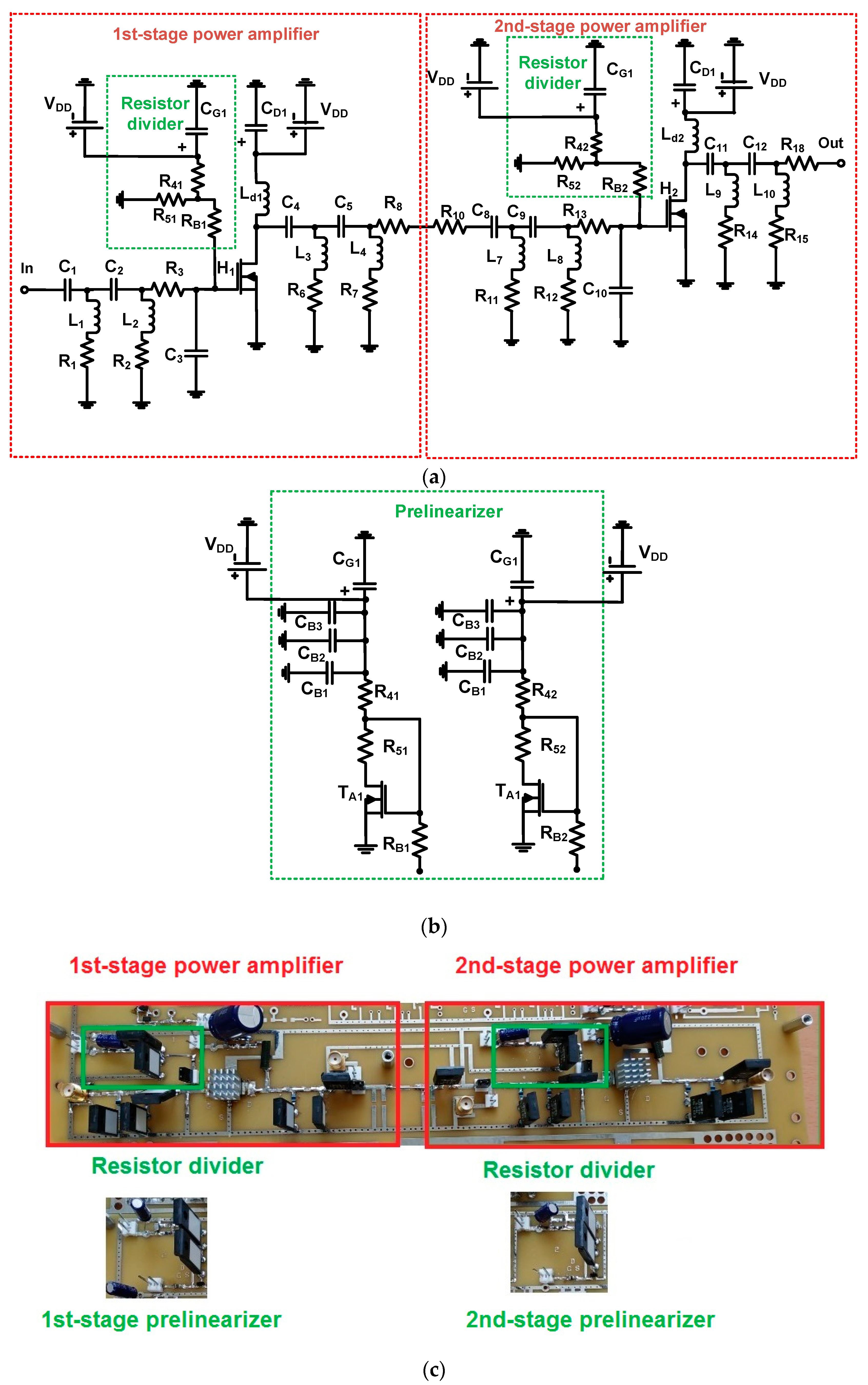 Sensors Free Full Text Prelinearized Class B Power Amplifier For Piezoelectric Transducer Circuit No