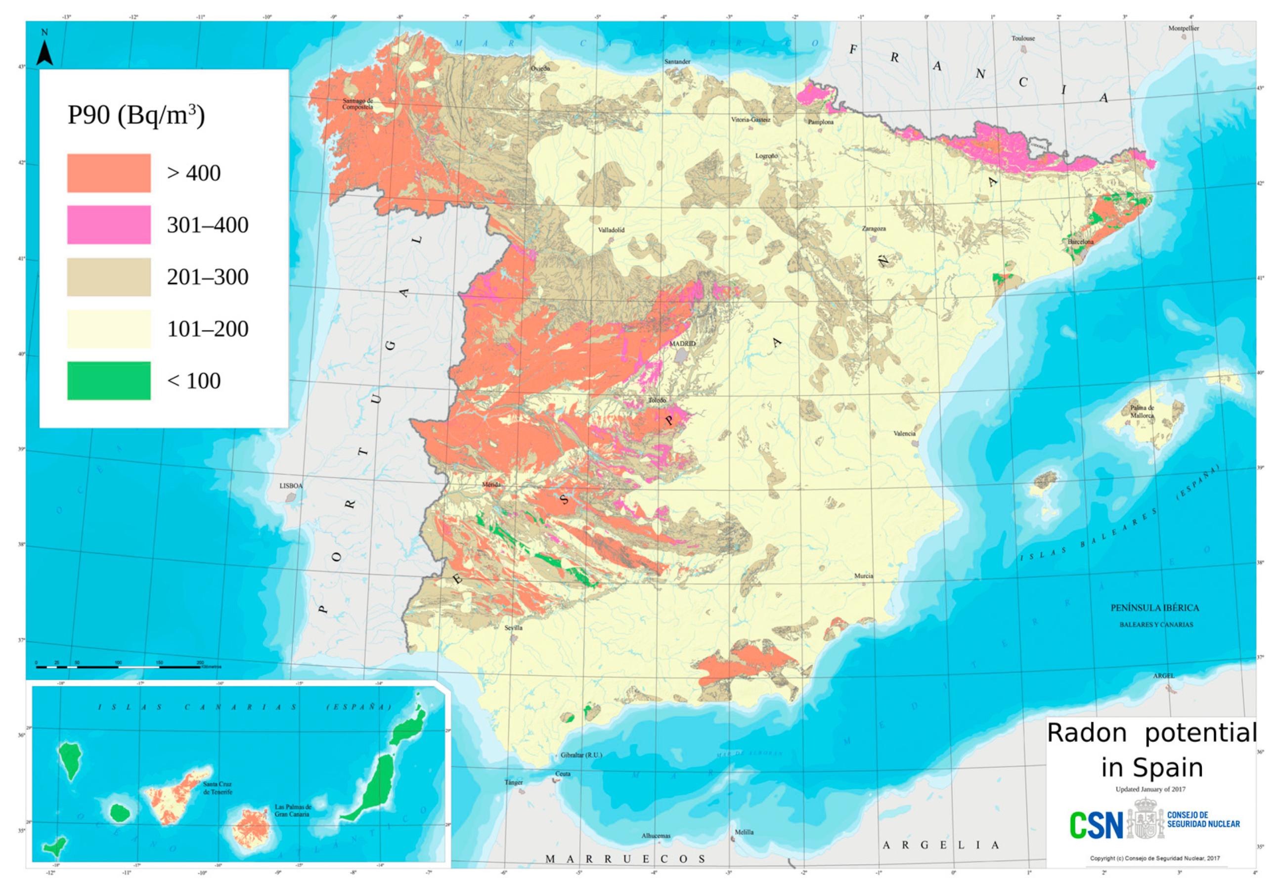 Mapa Del Radon En Espana.Sensors Free Full Text Developing A Secure Low Cost Radon Monitoring System Html