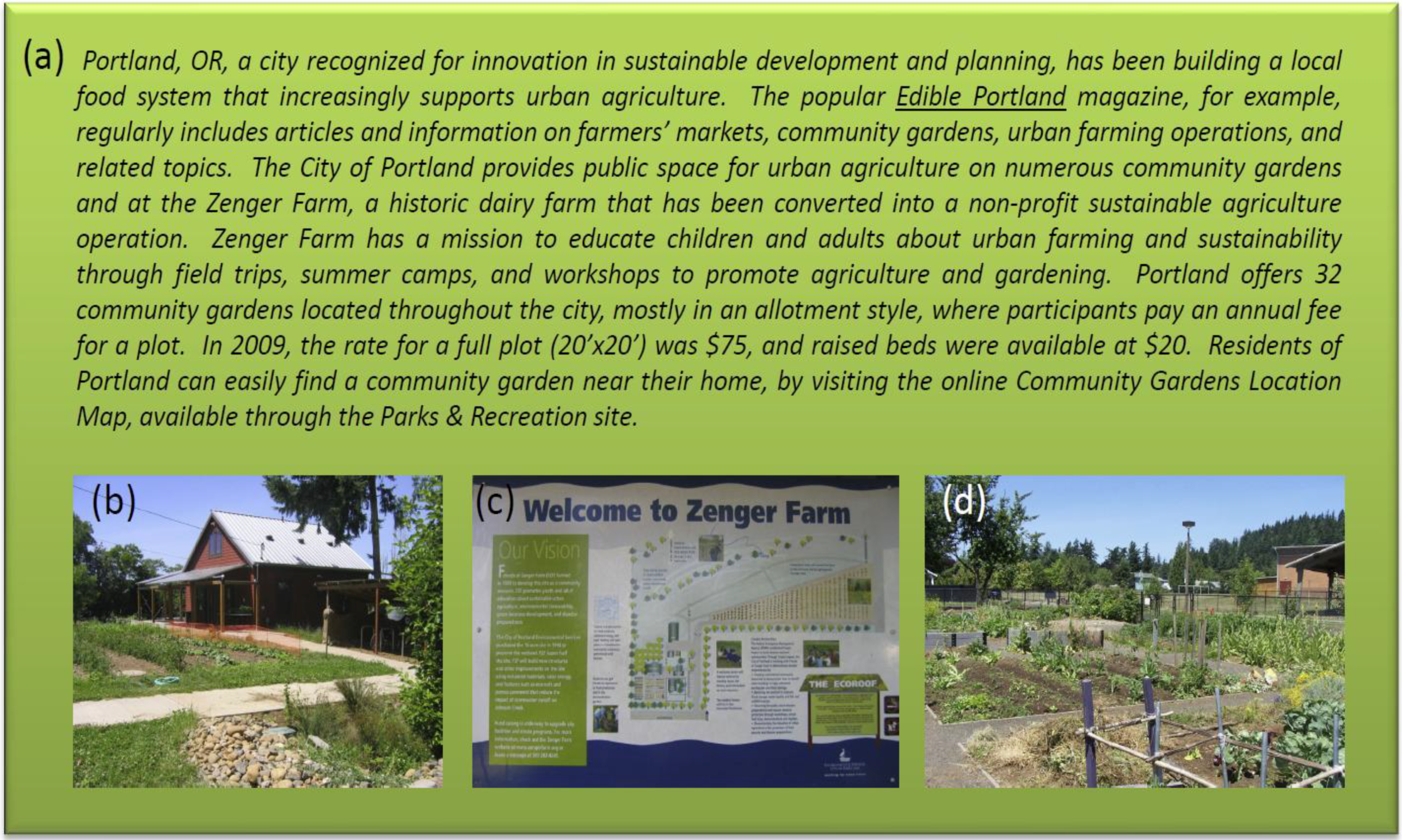 Sustainability | Free Full-Text | Multifunctional Urban Agriculture on
