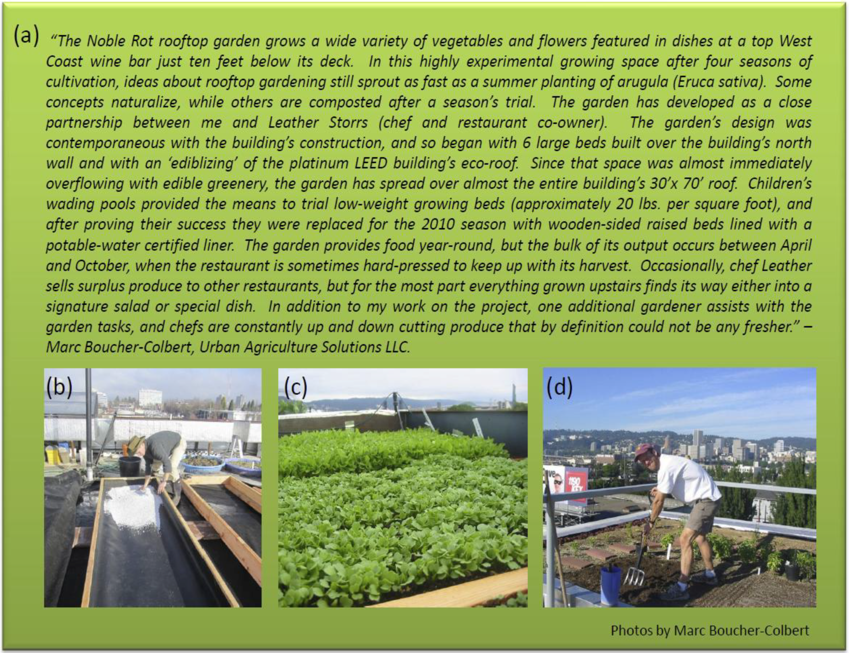 Sustainability Free Full Text Multifunctional Urban Agriculture