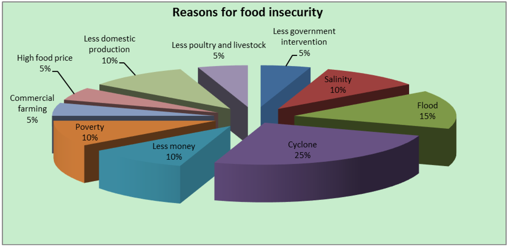 food insecurity in bangladesh economics essay One in seven households was food insecure in 2014—meaning that at some time during the year the household had difficulty providing enough food for all of their members due to a lack of resources to explore the persistent and troubling problem of hunger in america, the hamilton project offers the following 12 facts on food insecurity.