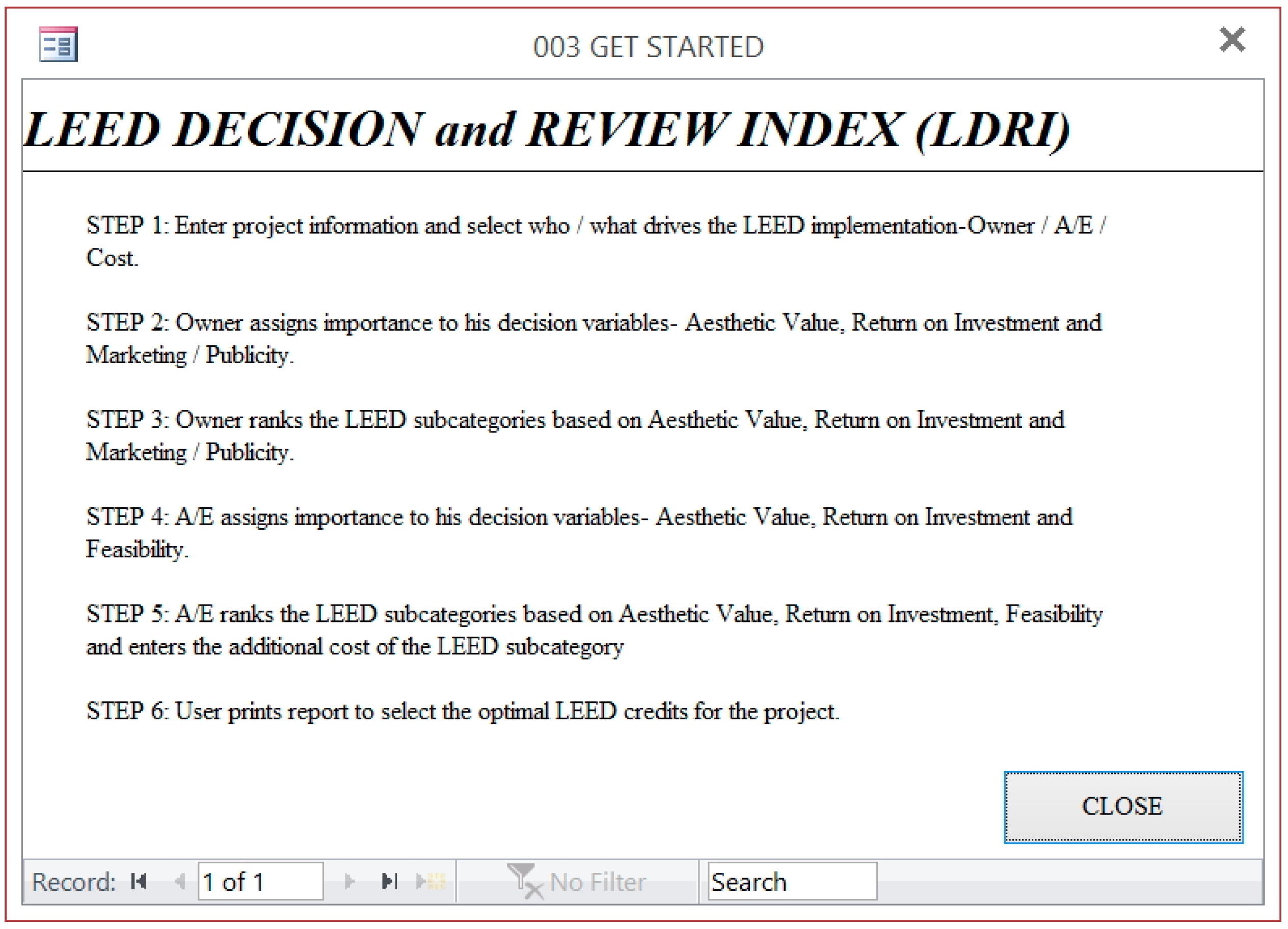 Sustainability Free Full Text Leed Credit Review System And