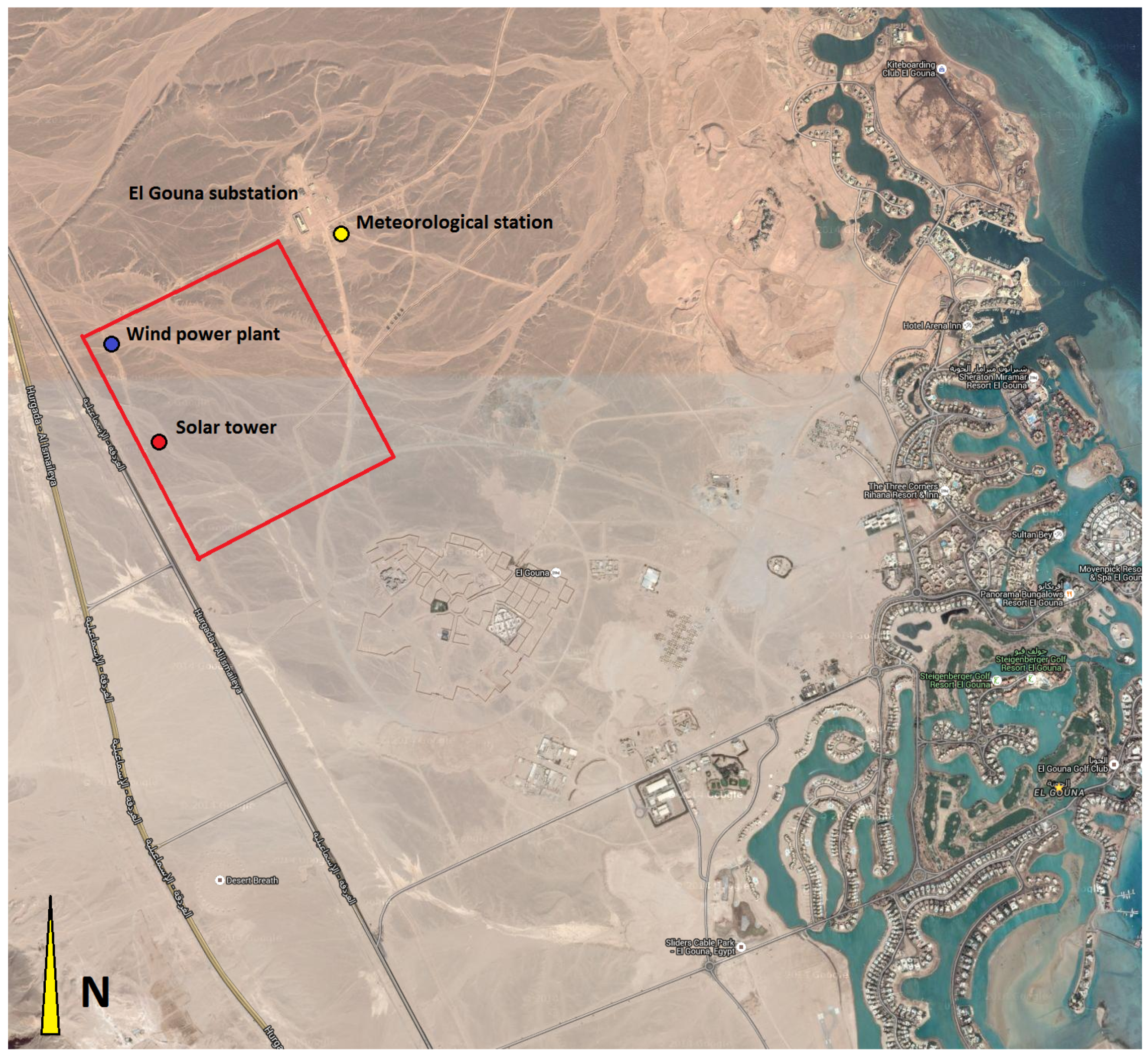 Sustainability Free FullText Renewable Energy Supply And - Map of egypt el gouna