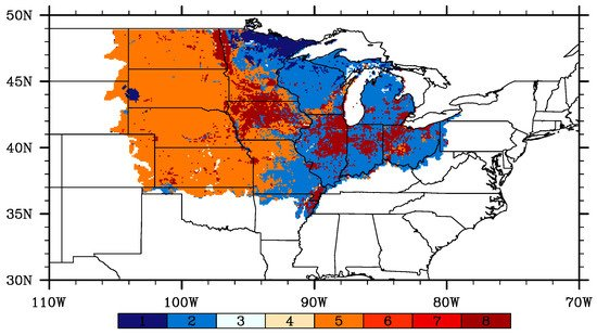 Effects of Land Use Change for Crops on Water and Carbon Budgets in the Midwest USA