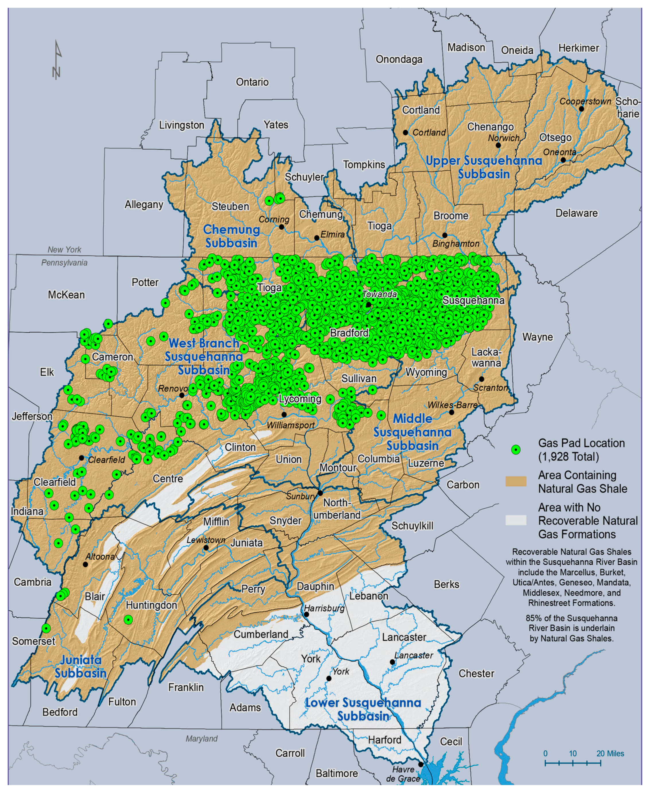 Sustainability Free FullText Marcellus Shale Fracking And - Marcellus shale map