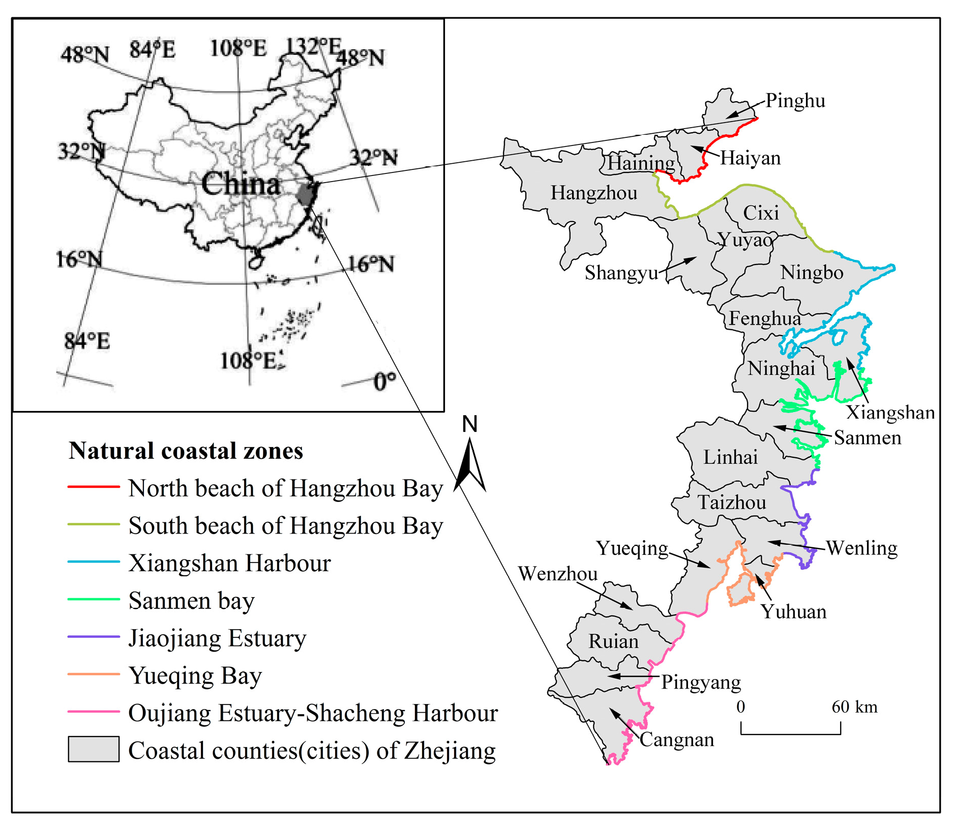 Sustainability Free FullText Spatiotemporal Change Patterns - Fenghua map