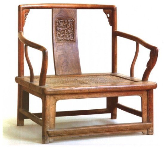 Temperate Vintage Chair Solid Dark Wood Hand Carved With Traditional Methods Chairs