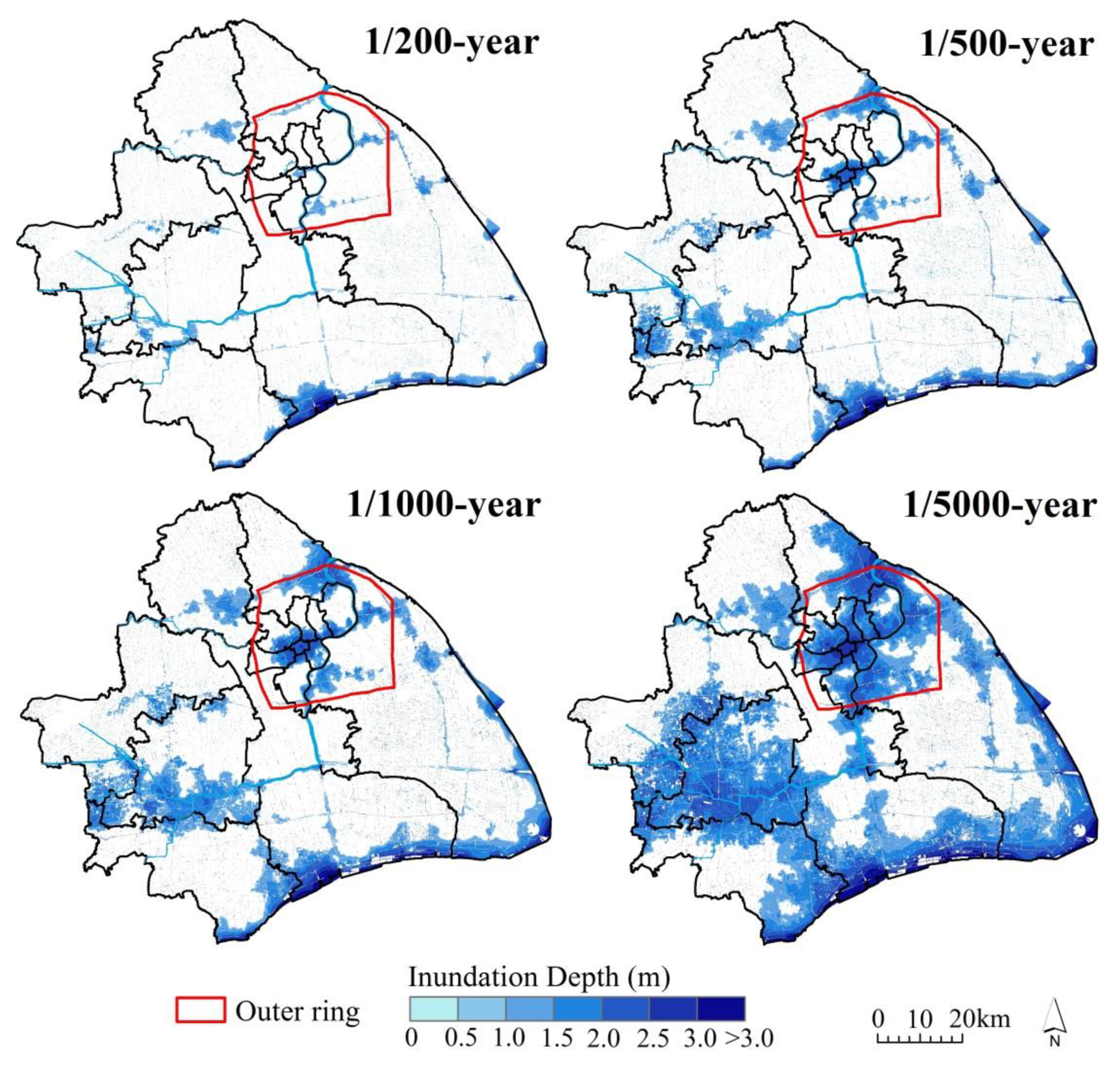 Scenario-Based Extreme Flood Risk of Residential Buildings and Household Properties in Shanghai