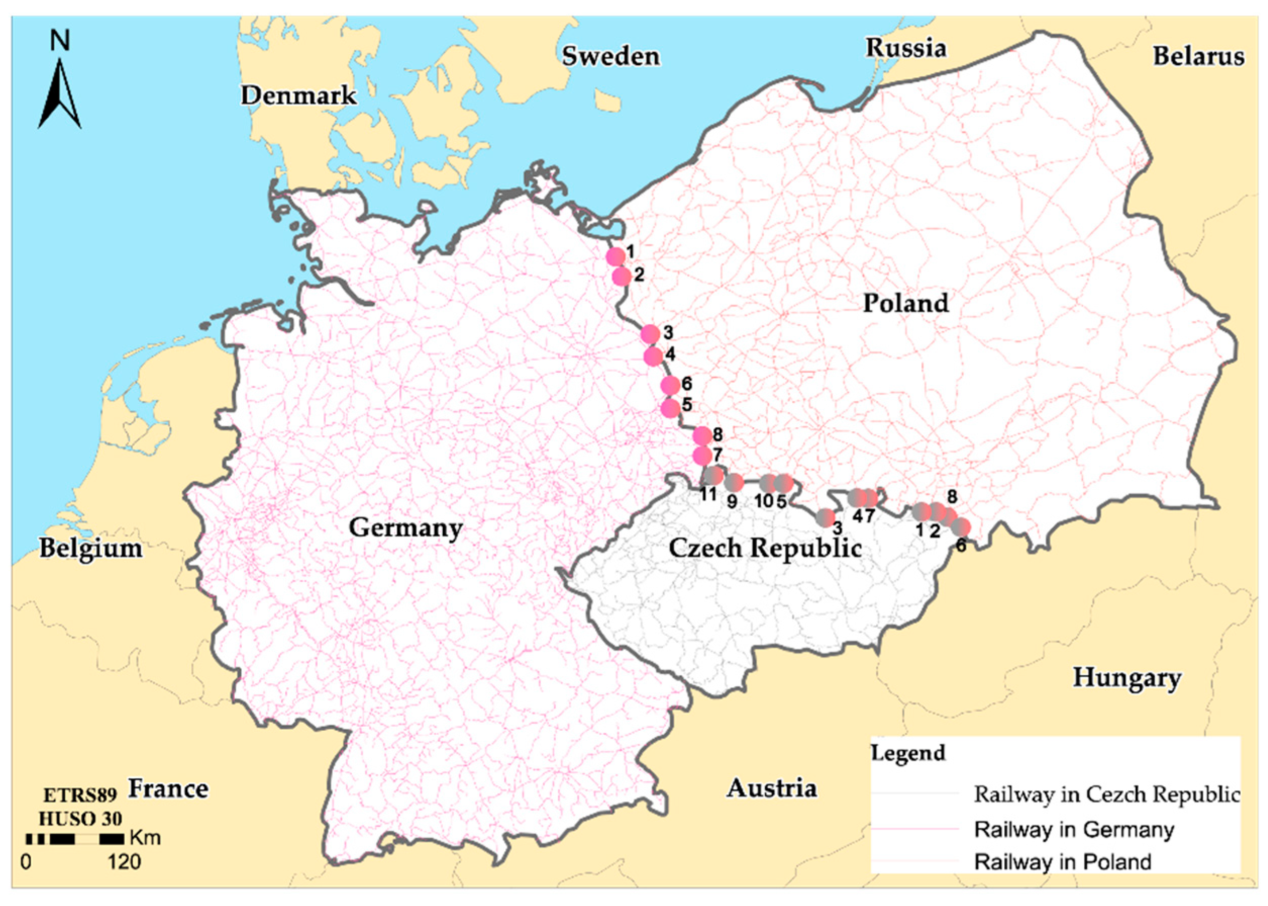 Map Of Germany Poland And Czech Republic.Sustainability Free Full Text Main Problems Of Railway