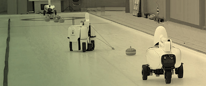 Path Planning of a Sweeping Robot Based on Path Estimation of a Curling Stone Using Sensor Fusion