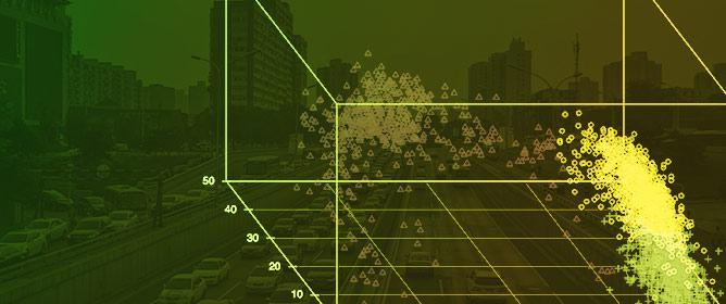 A Three-Phase Fundamental Diagram from Three-Dimensional Traffic Data