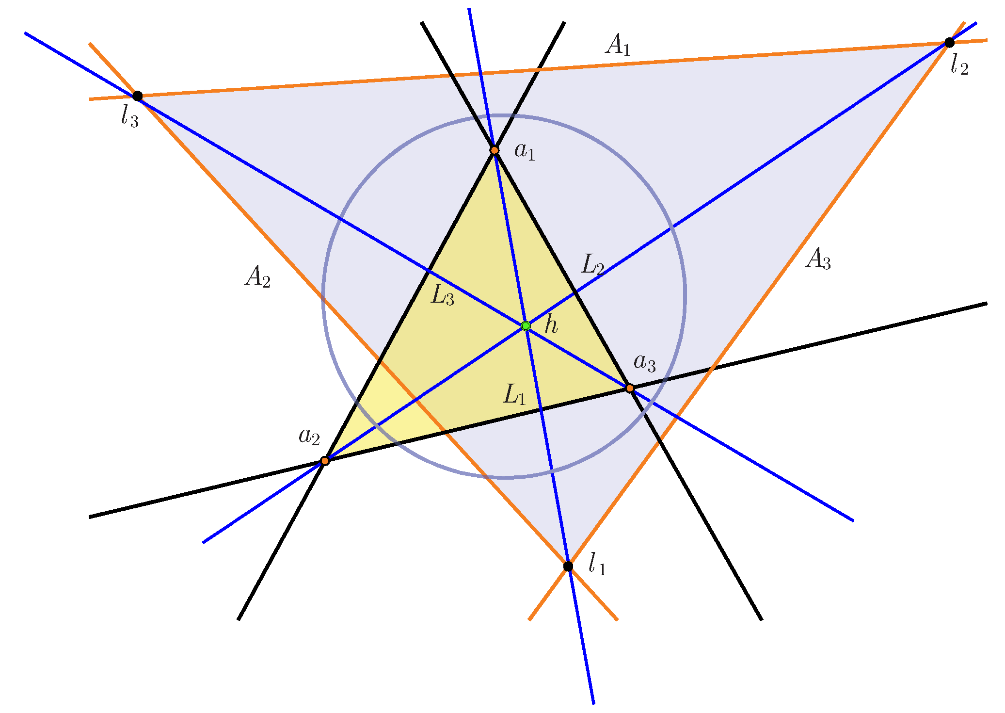hyperbolic geometry and omega triangles