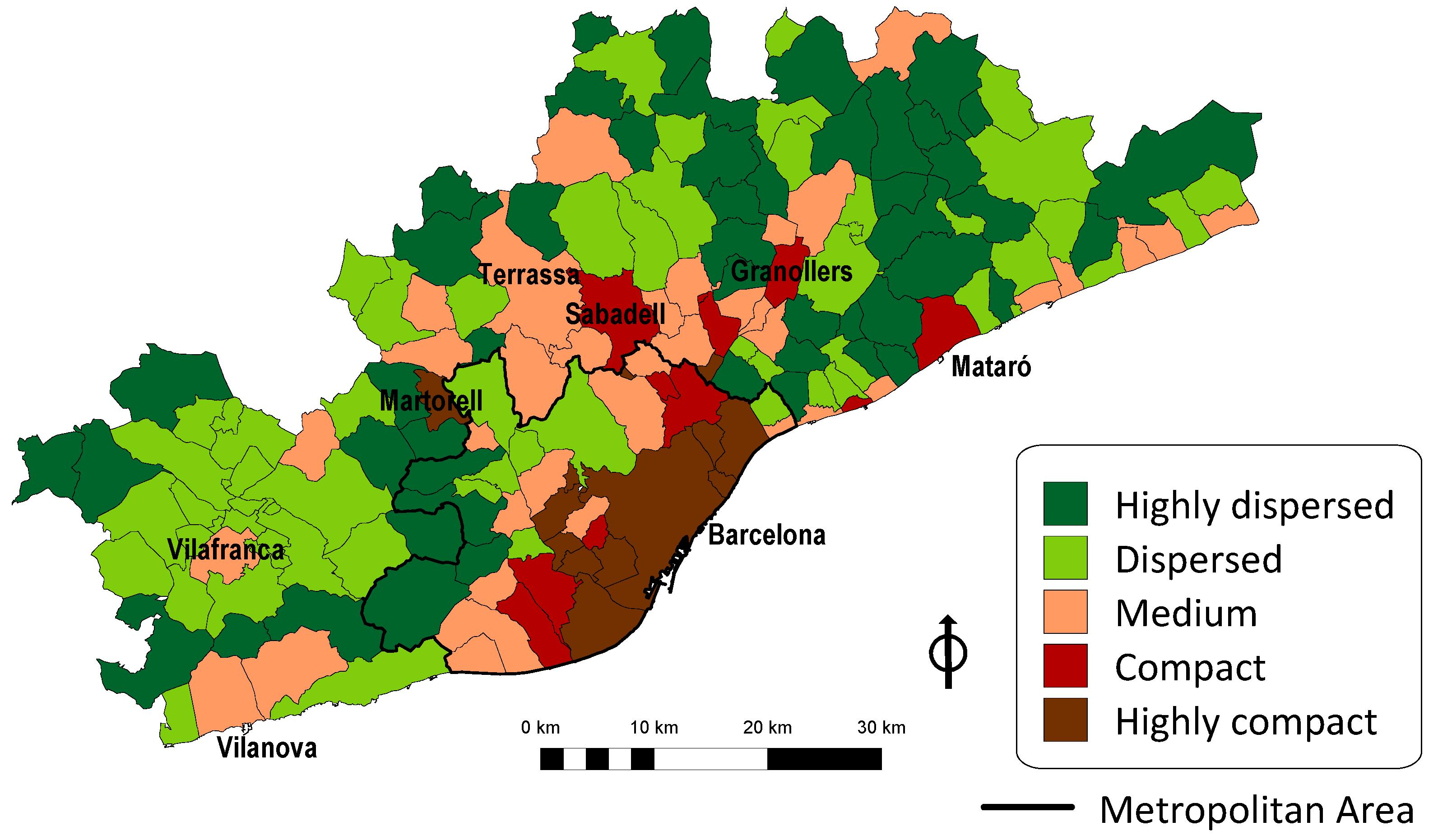Afbeeldingsresultaat voor barcelona sprawl map