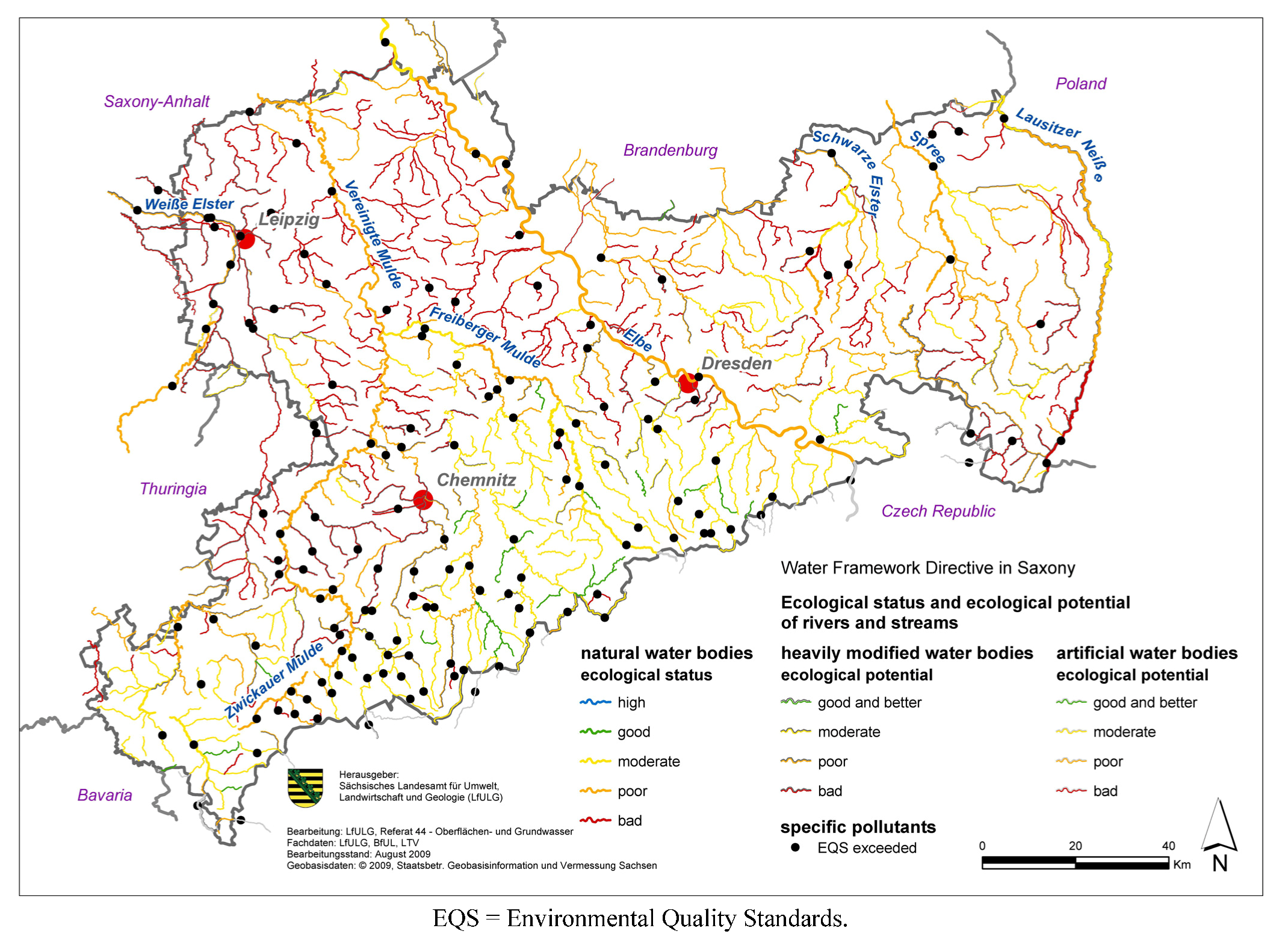 Water Free FullText Ecological Status Of Rivers And Streams - Rivers in germany