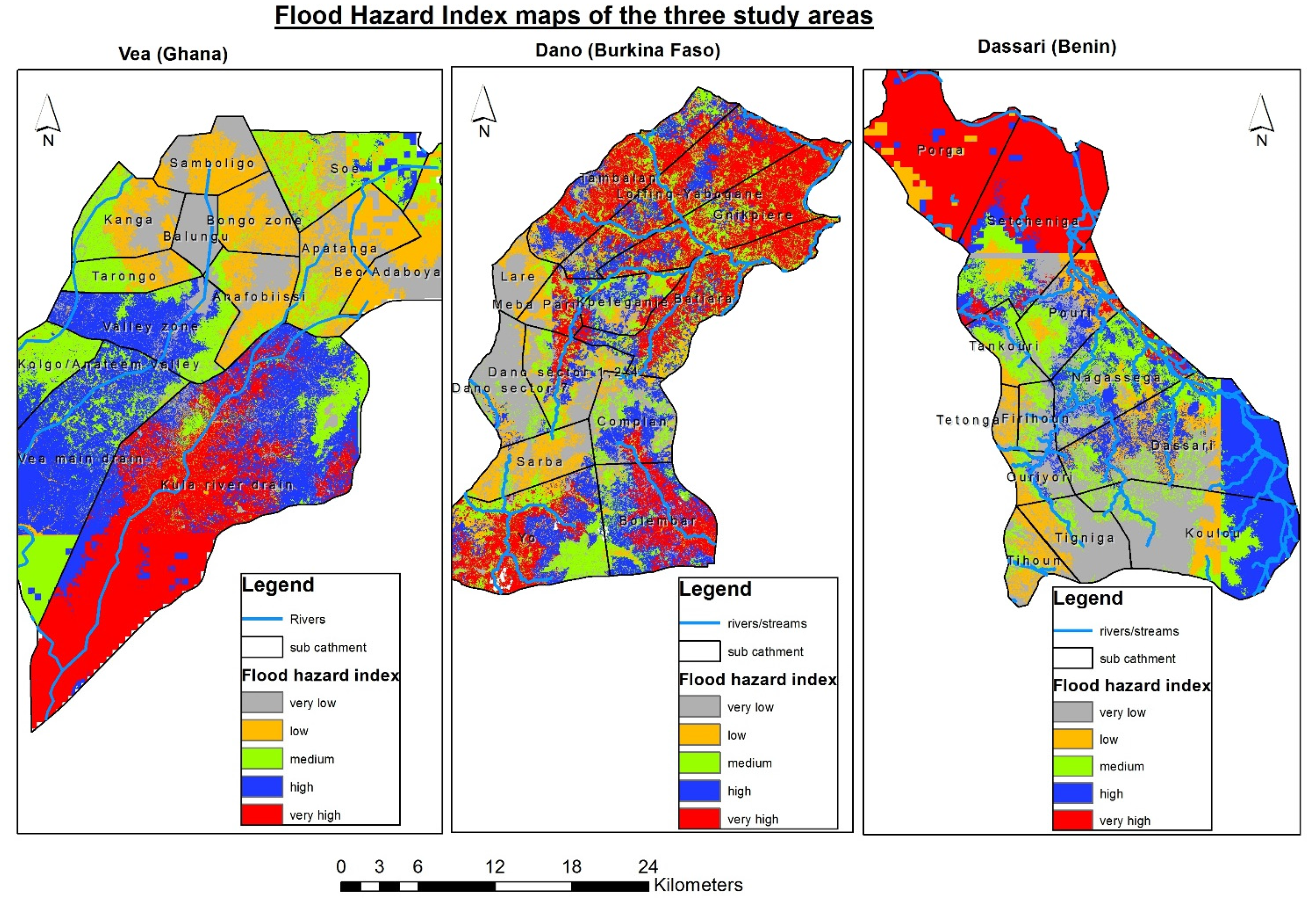 Water Free FullText Modeling Flood Hazard Zones At The Sub - Flood hazard boundary map