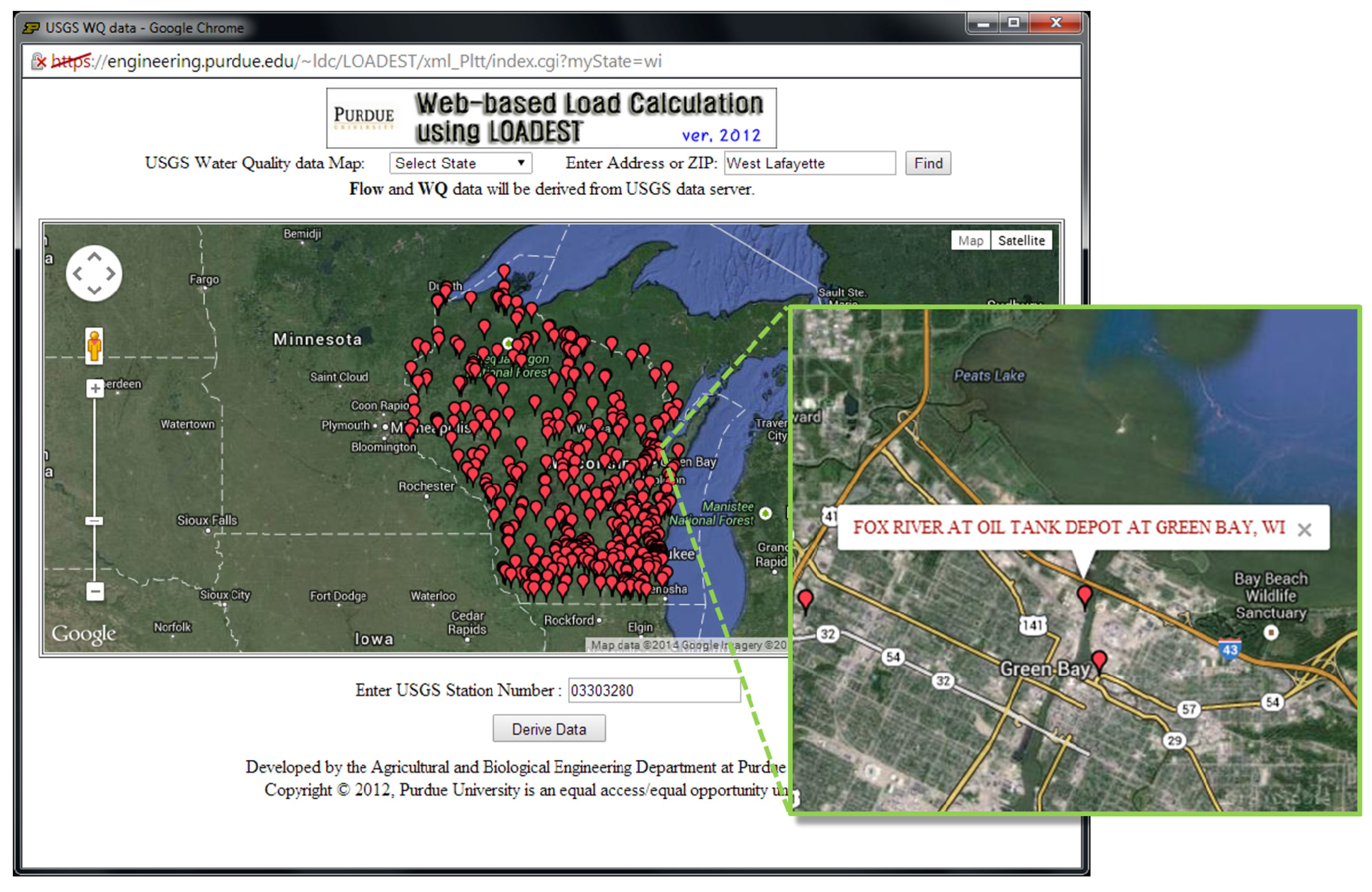 Water | Free Full-Text | A Web-Based Tool to Estimate