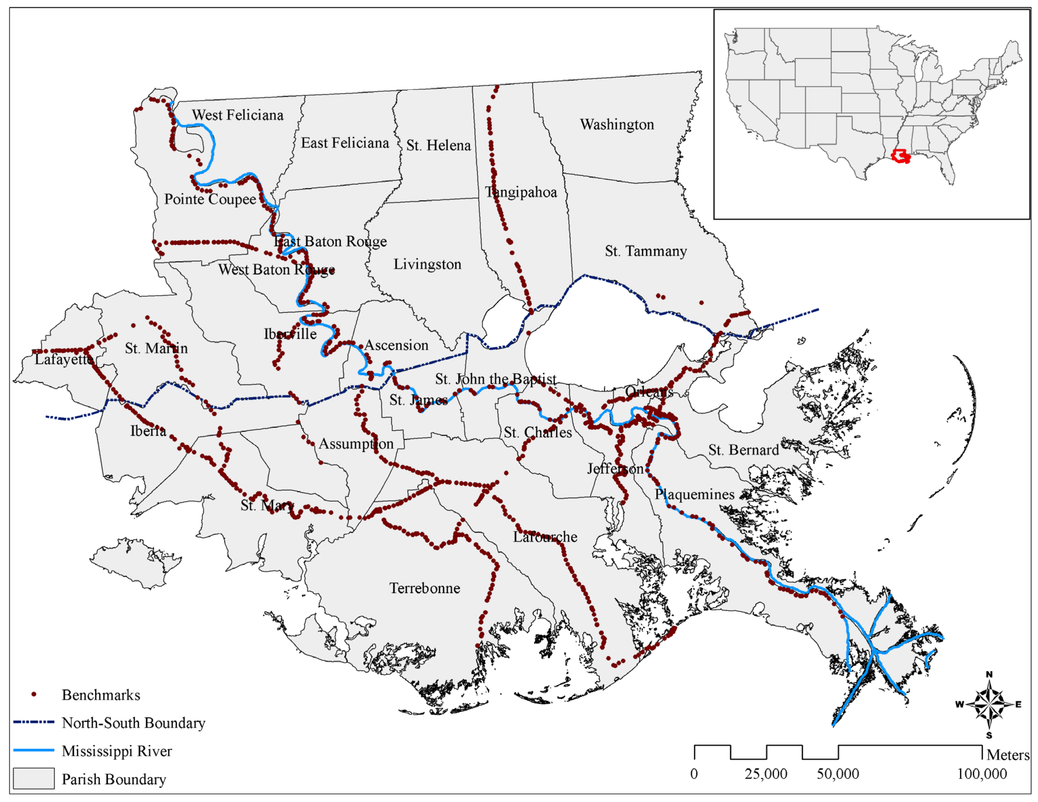 Water   Free Full-Text   Evaluating Land Subsidence Rates and Their on lake ontario map, texas map, mississippi highway map, missouri map, mexico map, us landforms map, louisiana map, mississippi delta map, rio grande map, great lakes map, pennsylvania map, united states map, california map, mississippi snow, florida map, mississippi seal, colorado map, minnesota map, great plains on map, canada map,